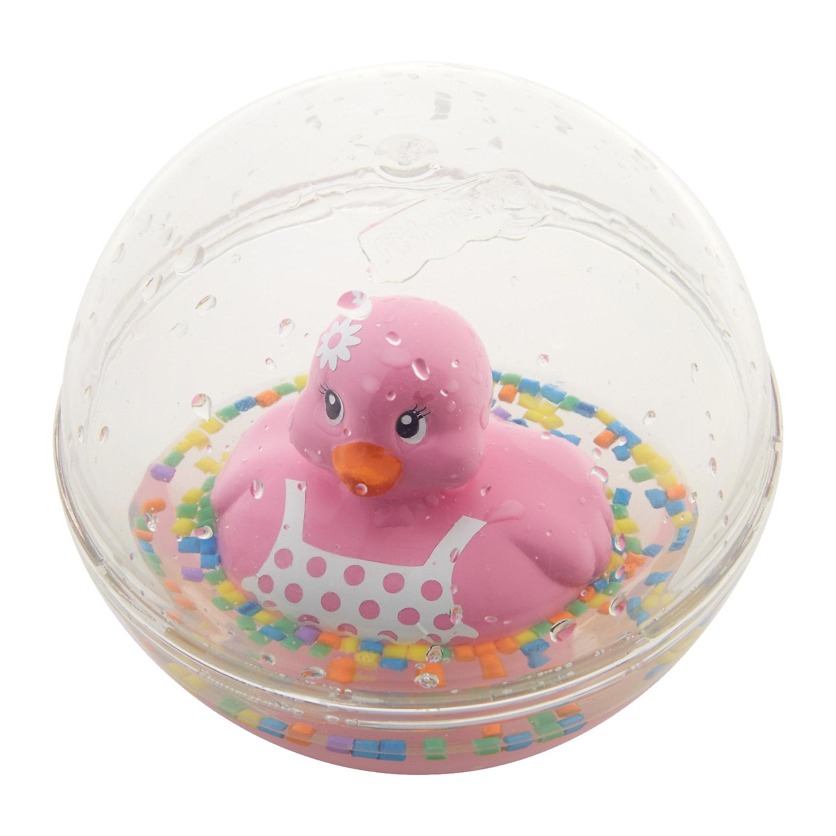 Развивающая игрушка Уточка с плавающими шариками, розовая, Fisher PriceРазвивающие игрушки<br>Характеристики товара:<br><br>• возраст от 3 месяцев;<br>• материал: пластик;<br>• диаметр 8,5 см;<br>• размер упаковки 16х13,5х10 см;<br>• вес упаковки 300 гр.;<br>• страна производитель: Китай.<br><br>Развивающая игрушка Уточка с плавающими шариками Fisher Price розовая сделает купание малыша или игру дома забавными и увлекательными. Игрушка выполнена в виде прозрачного шарика с плавающей внутри уточкой, который малыш может толкать, переворачивать, катать. Внутри шарика разноцветные детали, похожие на конфетти. В процессе игры у малыша развиваются мелкая моторика рук, тактильные ощущения, зрительное восприятие.<br><br>Развивающую игрушку Уточка с плавающими шариками Fisher Price розовую можно приобрести в нашем интернет-магазине.<br><br>Ширина мм: 140<br>Глубина мм: 103<br>Высота мм: 165<br>Вес г: 240<br>Возраст от месяцев: 3<br>Возраст до месяцев: 24<br>Пол: Женский<br>Возраст: Детский<br>SKU: 5117325