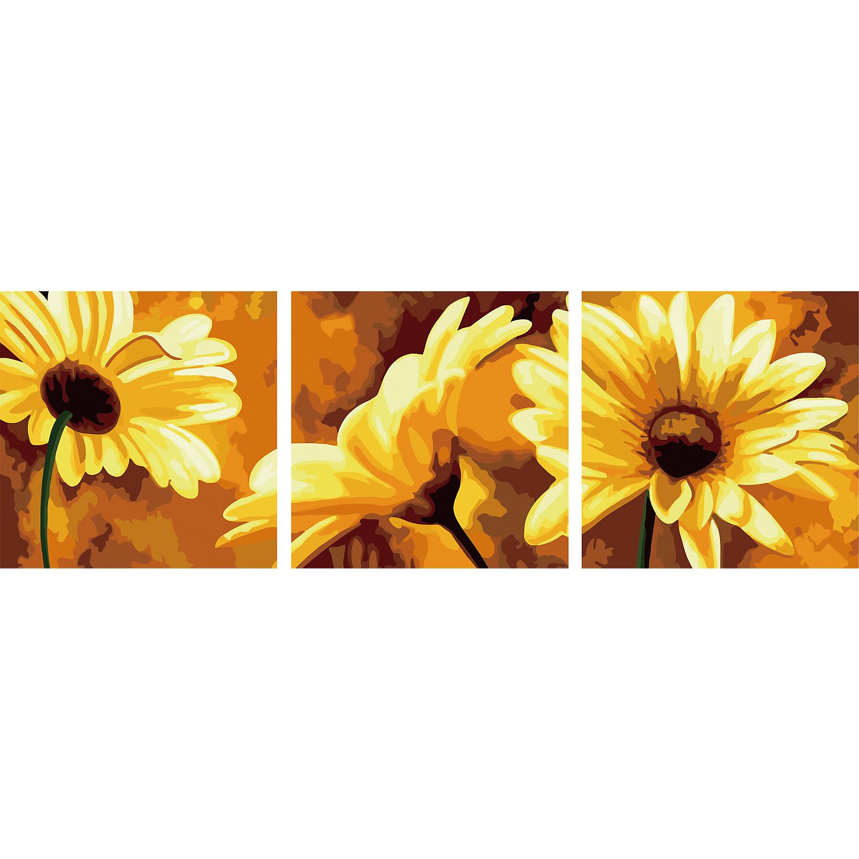 Роспись по номерам, триптих Желтые цветы 50*50 см (3 картины в наборе)Последняя цена<br>Роспись по номерам, триптих Желтые цветы 50*50 см (3 картины в наборе)<br>В набор входит:<br>-3 холста с нанесенным, пронумерованным рисунком<br>-набор акриловых красок на водяной основе<br>-3 кисточки для рисования<br>-крепление для подвешивания картины<br>-запасной чистый лист<br>-инструкция<br><br>Характеристика:<br>-Размер: 50х50 см<br>-Изображение: жёлтые цветы<br><br>Роспись по номерам, триптих Желтые цветы 50*50 см (3 картины в наборе) придаст красоту вашему интерьеру Вы можете написать картину сами без всяких затруднений, благодаря нумеровке, которая подскажет вам, что и каким цветом раскрашивать. Нарисовав картину, вы сможете повесить её в любое место с помощью крепления, прилагающемуся вместе с картинами. Благодаря качеству акриловых красок, ваша картина не потускнеет со временем и будет радовать вас долгое время.<br><br>Роспись по номерам, триптих Желтые цветы 50*50 см (3 картины в наборе) можно приобрести в нашем интернет-магазине.<br><br>Ширина мм: 520<br>Глубина мм: 520<br>Высота мм: 50<br>Вес г: 900<br>Возраст от месяцев: 36<br>Возраст до месяцев: 2147483647<br>Пол: Унисекс<br>Возраст: Детский<br>SKU: 5117349