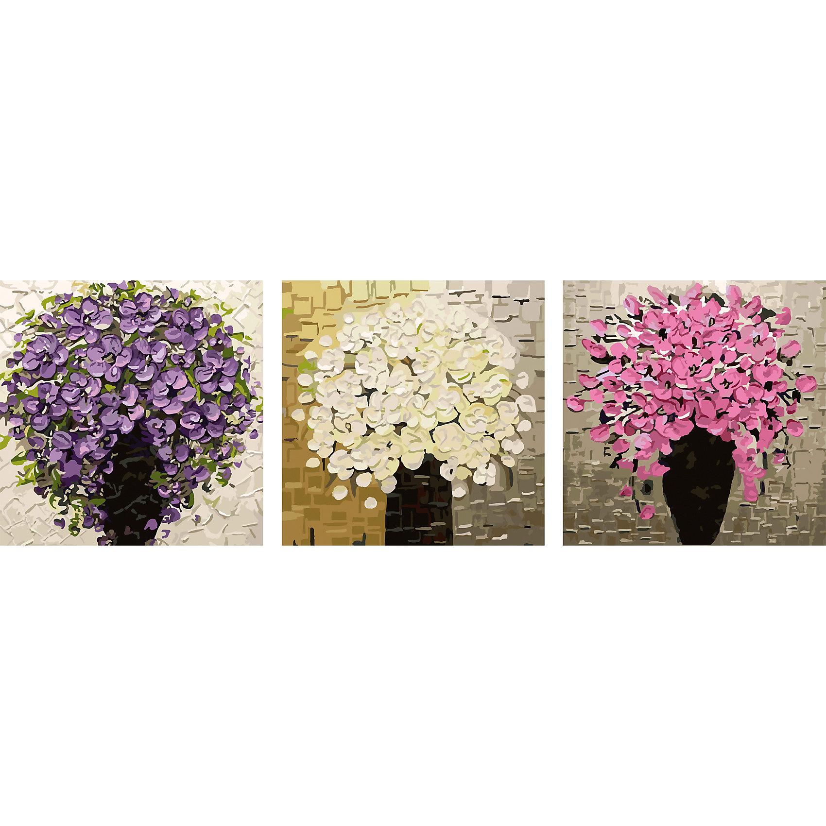 Роспись по номерам, триптих Цветы в вазах 50*50 см (3 картины в наборе)Роспись по номерам, триптих Цветы в вазах 50*50 см (3 картины в наборе)<br> <br> <br><br>В набор входит:<br>-3 холста с нанесенным, пронумерованным рисунком<br>-набор акриловых красок на водяной основе<br>-3 кисточки для рисования<br>-крепление для подвешивания картины<br>-запасной чистый лист<br>-инструкция<br><br>Характеристика:<br>-Размер: 50х50 см<br>-Изображение: цветы в вазе<br><br> Роспись по номерам, триптих Цветы в вазах 50*50 см (3 картины в наборе) - это интересное решение для украшения вашего интерьера. К рисованию можно приобщить и детей. Благодаря нумеровке на холсте, у ребёнка не возникнет особых затруднений, особенно с вашей помощью. Нарисовав картину, вы сможете повесить её в любое место с помощью крепления, прилагающемуся вместе с картинами. Благодаря качеству акриловых красок, ваша картина не потускнеет со временем и будет радовать вас долгое время.<br><br>Роспись по номерам, триптих Цветы в вазах 50*50 см (3 картины в наборе) можно приобрести в нашем интернет-магазине.<br><br>Ширина мм: 520<br>Глубина мм: 520<br>Высота мм: 50<br>Вес г: 900<br>Возраст от месяцев: 36<br>Возраст до месяцев: 2147483647<br>Пол: Унисекс<br>Возраст: Детский<br>SKU: 5117354