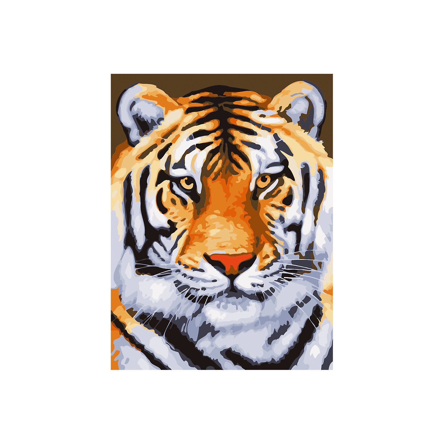 TUKZAR Роспись по номерам Тигр 40*50 см tukzar роспись по номерам вечерняя набережная 40 50 см