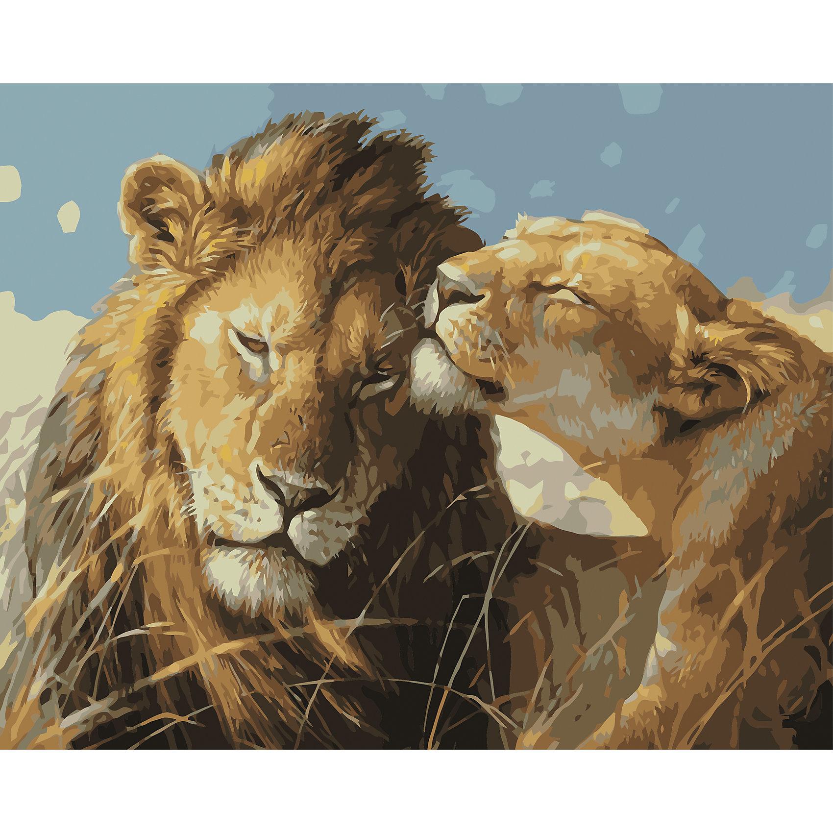 TUKZAR Роспись по номерам Львиная пара 40*50 см tukzar роспись по номерам тигры 40 50 см
