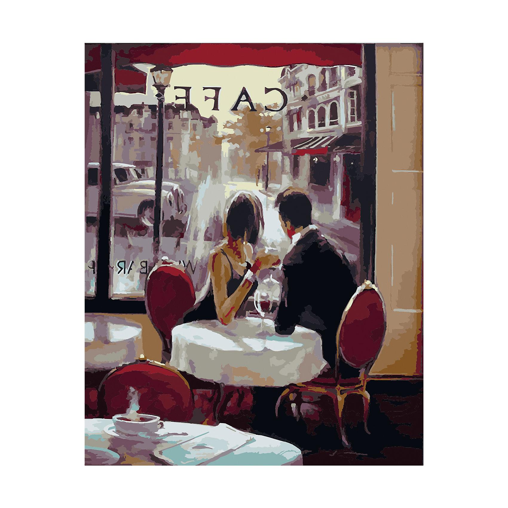TUKZAR Роспись по номерам В кафе 40*50 см tukzar роспись по номерам вечерняя набережная 40 50 см