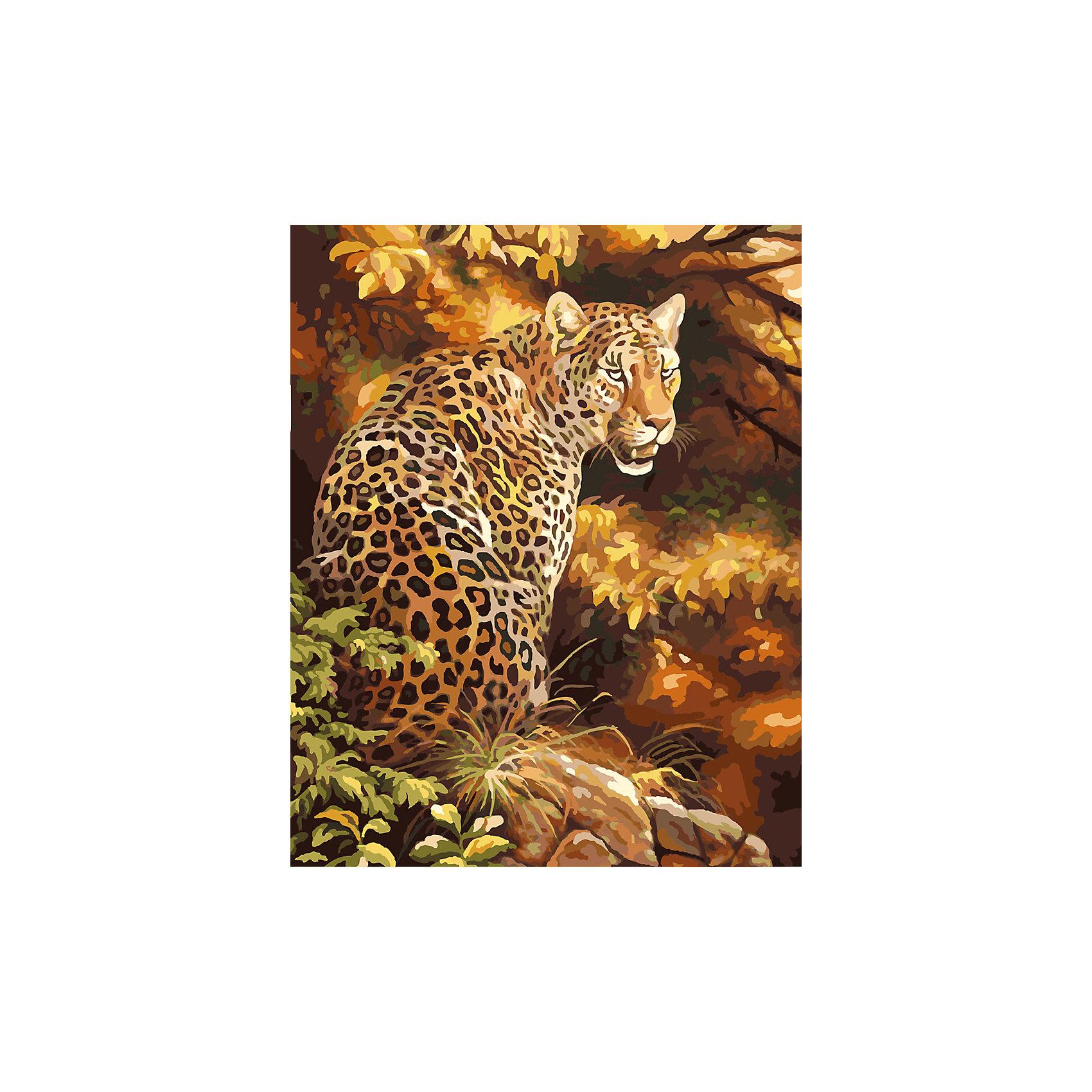 TUKZAR Роспись по номерам Леопард в лесу 40*50 см наборы для рисования цветной картины по номерам пятнистый леопард