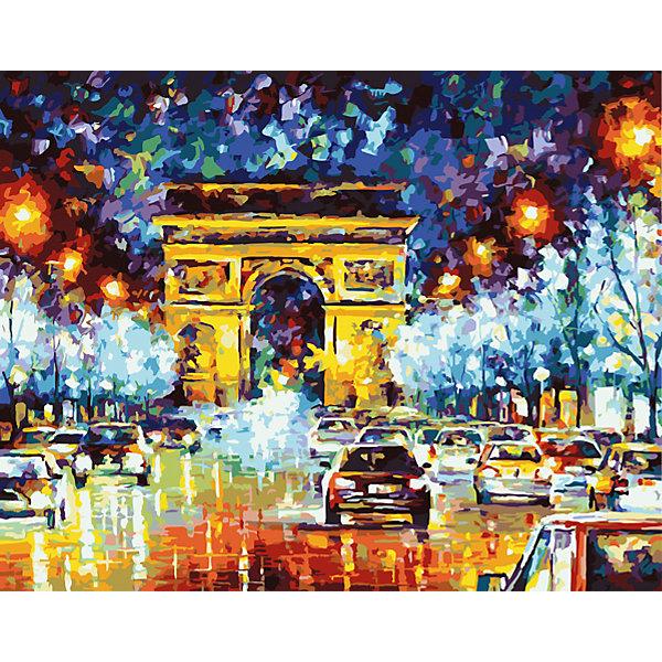 Роспись по номерам Триумфальная арка в Париже 40*50 смПоследняя цена<br>Характеристики товара:<br><br>- цвет: разноцветный;<br>- материал: бумага, акрил;<br>- комплектация: холст на подрамнике, кисти, краски, контрольный рисунок, инструкция;<br>- размер картины: 40х50 см;<br>- размер упаковки: 42х52х3 см.<br><br>Этот набор для рисования станет отличным подарком и для ребенка, и для взрослого. Он помогает развить художественные навыки, поверить в свои силы, а в итоге работы получается произведение искусства, которое может украсить интерьер!<br>Основа комплекта - это полотно на подрамнике размером 40 на 50 сантиметров, на которое нанесены контуры рисунка, а участки пронумерованы. Каждому номеру соответствует баночка с краской определенного оттенка. Для удобного нанесения акриловых красок на водной основе в наборе есть три разные кисти, с их помощью даже мелкие детали можно аккуратно и красиво прорисовать. Чтобы контролировать процесс, можно сверяться с контрольным рисунком, на котором изображена готовая картина.<br>Роспись по такой схеме помогает развивать зрительную память, концентрацию внимания, мелкую моторику и цветовосприятие.<br><br>Роспись по номерам Триумфальная арка в Париже 40*50 см можно купить в нашем интернет-магазине.<br><br>Ширина мм: 420<br>Глубина мм: 520<br>Высота мм: 50<br>Вес г: 900<br>Возраст от месяцев: 36<br>Возраст до месяцев: 2147483647<br>Пол: Унисекс<br>Возраст: Детский<br>SKU: 5117422