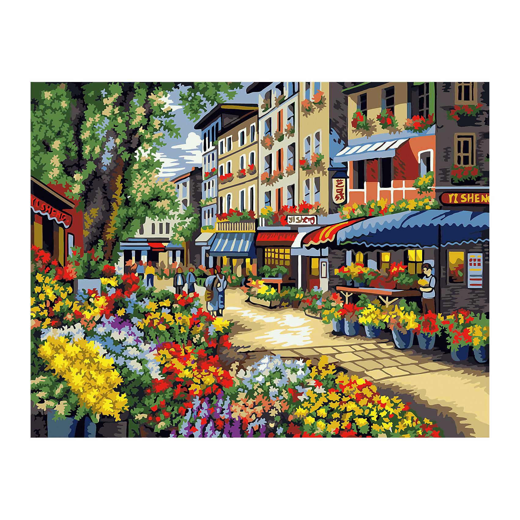 TUKZAR Роспись по номерам Цветочная улица 40*50 см купить 3комнатную квартиру в волгограде улица гагринская