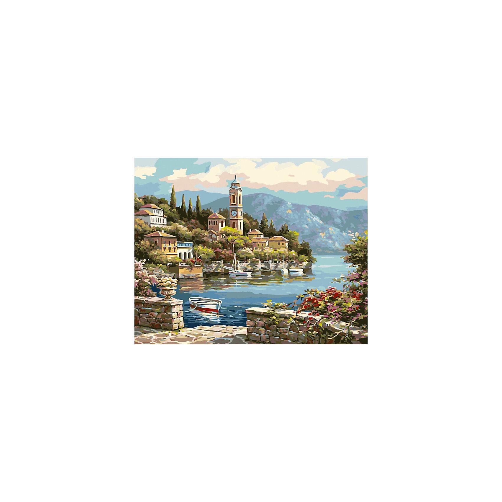 Роспись по номерам Башня с часами 40*50 смХарактеристики товара:<br><br>- цвет: разноцветный;<br>- материал: бумага, акрил;<br>- комплектация: холст на подрамнике, кисти, краски, контрольный рисунок, инструкция;<br>- размер картины: 40х50 см;<br>- размер упаковки: 42х52х3 см.<br><br>Такой комплект для рисования станет отличным подарком и для ребенка, и для взрослого. Он помогает развить художественные навыки, поверить в свои силы, а в итоге работы получается произведение искусства, которое может украсить интерьер!<br>Основа набора - это полотно на подрамнике размером 40 на 50 сантиметров, на которое нанесены контуры рисунка, а участки пронумерованы. Каждому номеру соответствует баночка с краской определенного оттенка. Для удобного нанесения акриловых красок на водной основе в наборе есть три разные кисти, с их помощью даже мелкие детали можно аккуратно и красиво прорисовать. Чтобы контролировать процесс, можно сверяться с контрольным рисунком, на котором изображена готовая картина.<br>Роспись по такой схеме помогает развивать зрительную память, концентрацию внимания, мелкую моторику и цветовосприятие.<br><br>Роспись по номерам Башня с часами 40*50 см можно купить в нашем интернет-магазине.<br><br>Ширина мм: 420<br>Глубина мм: 520<br>Высота мм: 50<br>Вес г: 900<br>Возраст от месяцев: 36<br>Возраст до месяцев: 2147483647<br>Пол: Унисекс<br>Возраст: Детский<br>SKU: 5117447