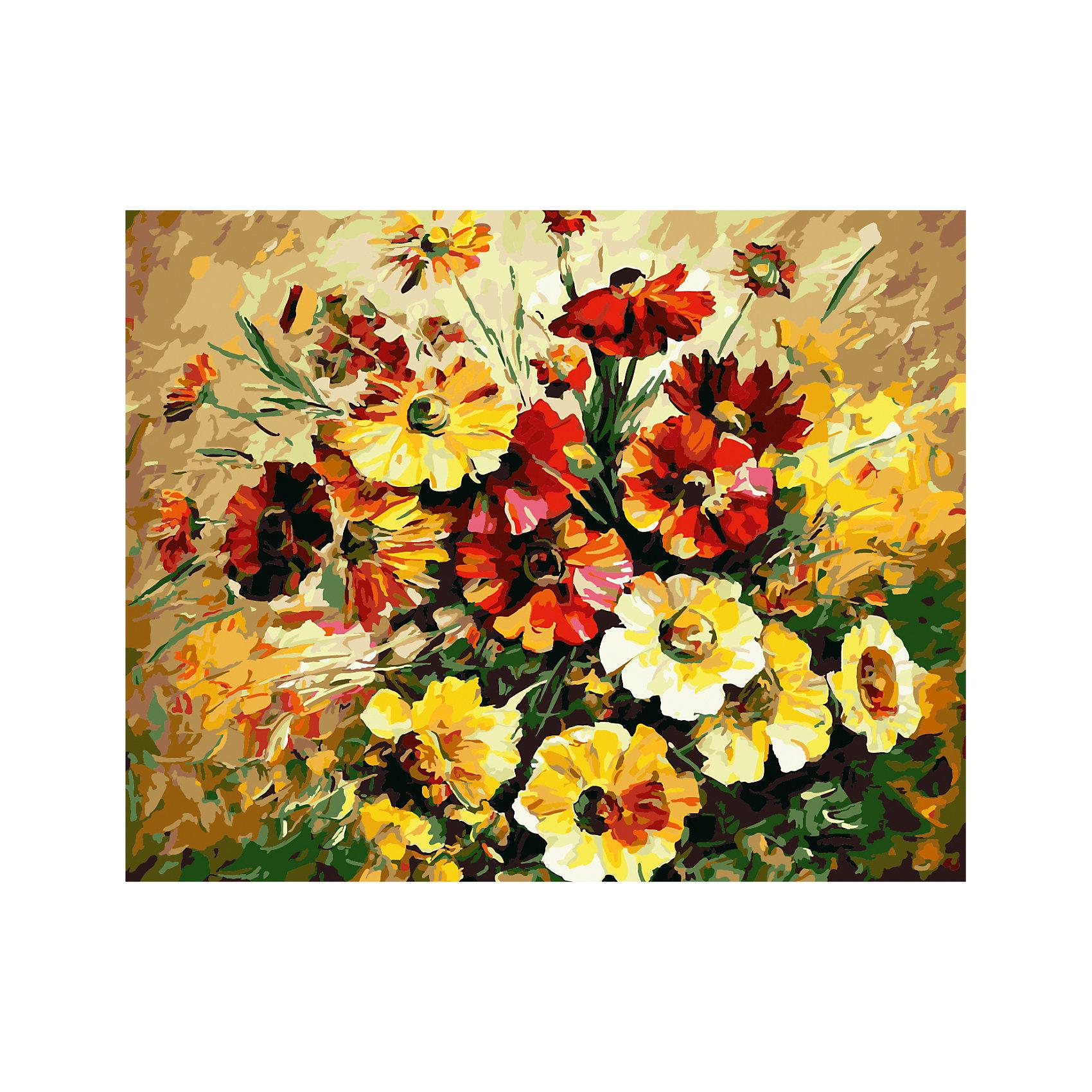 TUKZAR Роспись по номерам Красно-желтый букет 40*50 см наборы для рисования цветной картины по номерам букет романтики