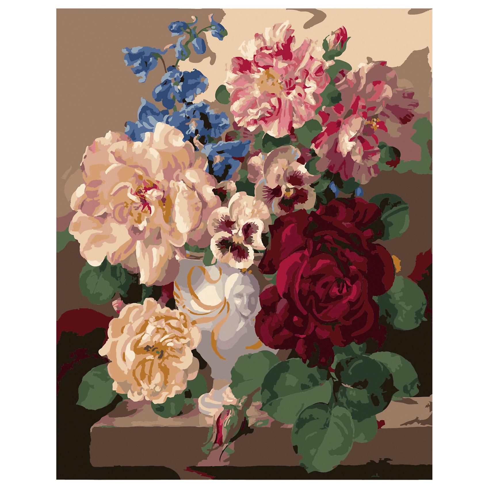 TUKZAR Роспись по номерам Букет пионов с васильками 40*50 см наборы для рисования цветной картины по номерам букет розовых цветов