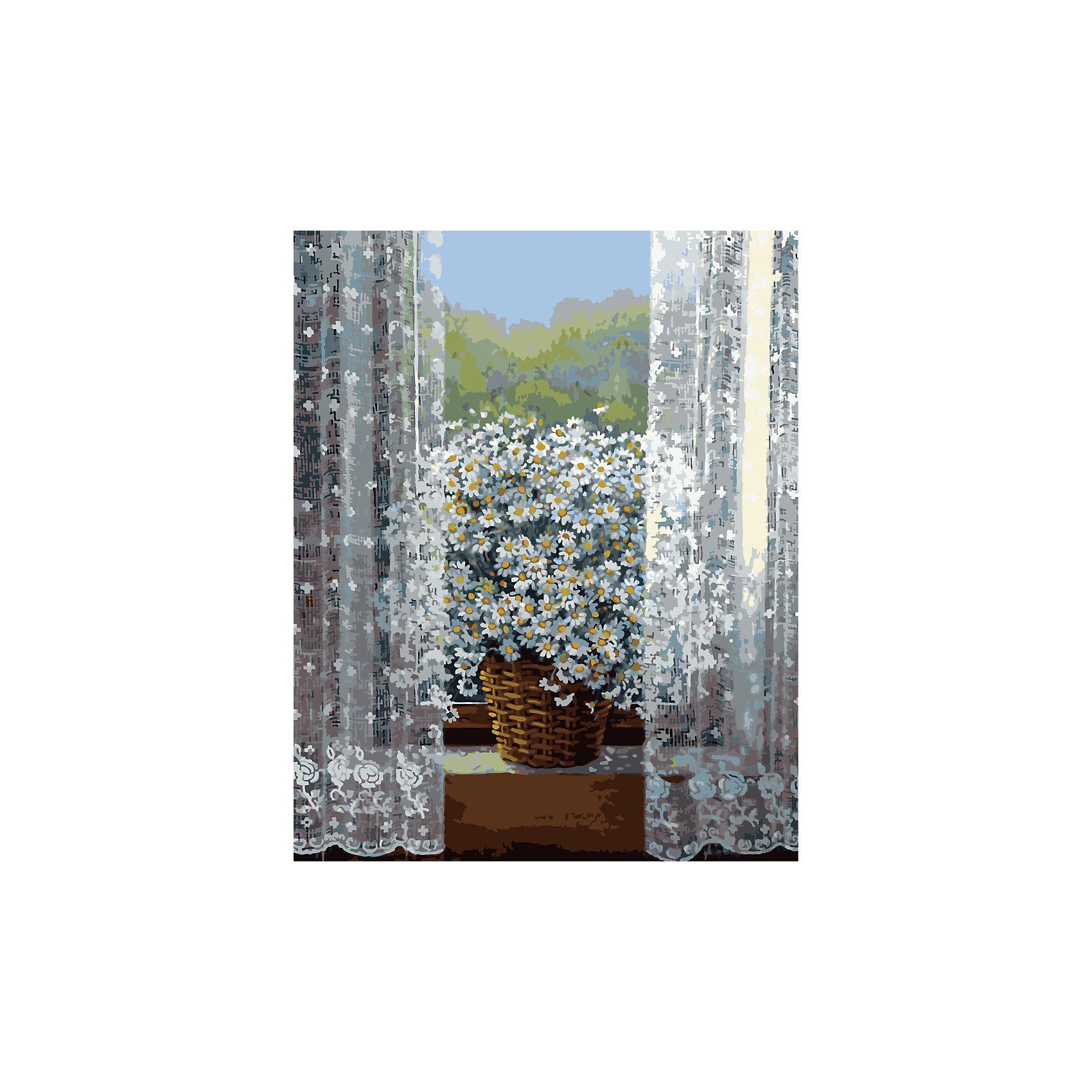 Роспись по номерам Ромашки на окне 40*50смХарактеристики товара:<br><br>- цвет: разноцветный;<br>- материал: бумага, акрил;<br>- комплектация: холст на подрамнике, кисти, краски, контрольный рисунок, инструкция;<br>- размер картины: 40х50 см;<br>- размер упаковки: 42х52х3 см.<br><br>Этот набор для рисования станет отличным подарком и для ребенка, и для взрослого. Он помогает развить художественные навыки, поверить в свои силы, а в итоге работы получается произведение искусства, которое может украсить интерьер!<br>Основа комплекта - это полотно на подрамнике размером 40 на 50 сантиметров, на которое нанесены контуры рисунка, а участки пронумерованы. Каждому номеру соответствует баночка с краской определенного оттенка. Для удобного нанесения акриловых красок на водной основе в наборе есть три разные кисти, с их помощью даже мелкие детали можно аккуратно и красиво прорисовать. Чтобы контролировать процесс, можно сверяться с контрольным рисунком, на котором изображена готовая картина.<br>Роспись по такой схеме помогает развивать зрительную память, концентрацию внимания, мелкую моторику и цветовосприятие.<br><br>Роспись по номерам Ромашки на окне 40*50 см можно купить в нашем интернет-магазине.<br><br>Ширина мм: 420<br>Глубина мм: 520<br>Высота мм: 50<br>Вес г: 900<br>Возраст от месяцев: 36<br>Возраст до месяцев: 2147483647<br>Пол: Женский<br>Возраст: Детский<br>SKU: 5117527
