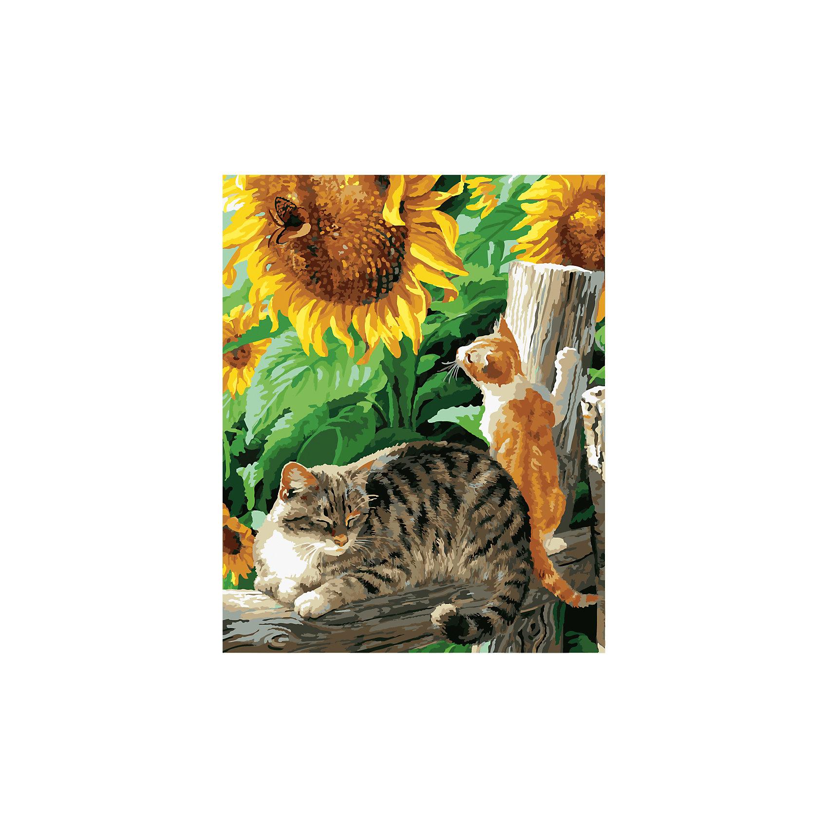 Роспись по номерам Кошка, котенок и бабочка 40*50смПоследняя цена<br>Характеристики товара:<br><br>- цвет: разноцветный;<br>- материал: бумага, акрил;<br>- комплектация: холст на подрамнике, кисти, краски, контрольный рисунок, инструкция;<br>- размер картины: 40х50 см;<br>- размер упаковки: 42х52х3 см.<br><br>Этот набор для рисования станет отличным подарком и для ребенка, и для взрослого. Он помогает развить художественные навыки, поверить в свои силы, а в итоге работы получается произведение искусства, которое может украсить интерьер!<br>Основа комплекта - это полотно на подрамнике размером 40 на 50 сантиметров, на которое нанесены контуры рисунка, а участки пронумерованы. Каждому номеру соответствует баночка с краской определенного оттенка. Для удобного нанесения акриловых красок на водной основе в наборе есть три разные кисти, с их помощью даже мелкие детали можно аккуратно и красиво прорисовать. Чтобы контролировать процесс, можно сверяться с контрольным рисунком, на котором изображена готовая картина.<br>Роспись по такой схеме помогает развивать зрительную память, концентрацию внимания, мелкую моторику и цветовосприятие.<br><br>Роспись по номерам Кошка, котенок и бабочка 40*50 см можно купить в нашем интернет-магазине.<br><br>Ширина мм: 420<br>Глубина мм: 520<br>Высота мм: 50<br>Вес г: 900<br>Возраст от месяцев: 36<br>Возраст до месяцев: 2147483647<br>Пол: Унисекс<br>Возраст: Детский<br>SKU: 5117539