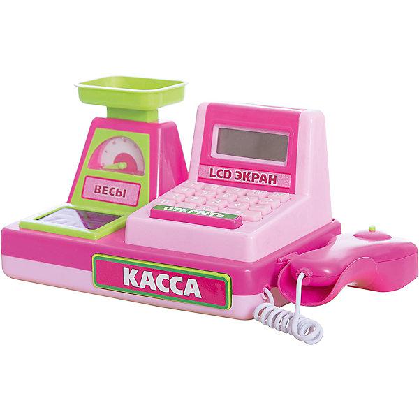 Касса на батарейках с аксессуарами, Играем вместеДетский супермаркет<br>Касса на батарейках, с аксессуарами, Играем вместе.<br><br>Характеристика:<br><br>• Материал: пластик. <br>• Размер: 34х14х16 см.<br>• Комплектация: касса с весами, сканер, набор продуктов, деньги. <br>• Световые и звуковые эффекты. <br>• Касса со встроенным калькулятором. <br>• Элемент питания: 3 АА батарейки (в комплект не входят).<br><br>Яркая касса с весами и сканером приведет в восторг любую девочку! Теперь игра в магазин стала еще интереснее и увлекательнее. В наборе также есть продукты и деньги. Кассовый аппарат - настоящий калькулятор: теперь считать выручку и сдачу проще и быстрее. Звуковые и световые эффекты добавят играм еще большую реалистичность. Игрушка выполнена из высококачественного прочного пластика, в производстве которого использованы только нетоксичные безопасные для детей красители. <br><br>Кассу на батарейках, с аксессуарами, Играем вместе, можно купить в нашем интернет-магазине.<br>Ширина мм: 160; Глубина мм: 140; Высота мм: 350; Вес г: 740; Возраст от месяцев: 36; Возраст до месяцев: 72; Пол: Женский; Возраст: Детский; SKU: 5119392;