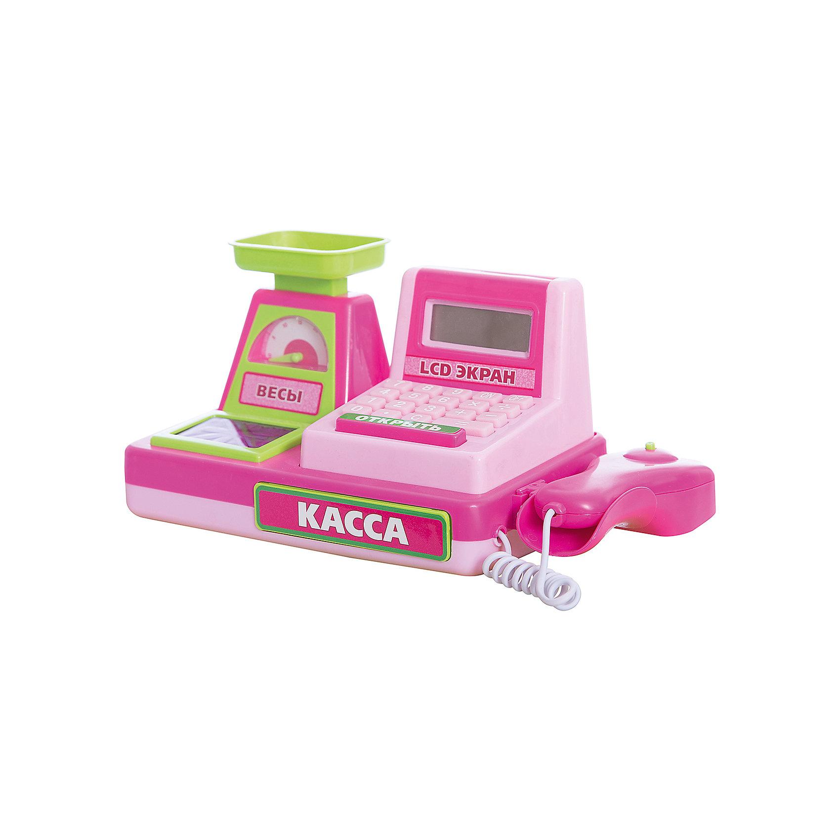 Касса на батарейках с аксессуарами, Играем вместеДетские магазины и аксесссуары<br>Касса на батарейках, с аксессуарами, Играем вместе.<br><br>Характеристика:<br><br>• Материал: пластик. <br>• Размер: 34х14х16 см.<br>• Комплектация: касса с весами, сканер, набор продуктов, деньги. <br>• Световые и звуковые эффекты. <br>• Касса со встроенным калькулятором. <br>• Элемент питания: 3 АА батарейки (в комплект не входят).<br><br>Яркая касса с весами и сканером приведет в восторг любую девочку! Теперь игра в магазин стала еще интереснее и увлекательнее. В наборе также есть продукты и деньги. Кассовый аппарат - настоящий калькулятор: теперь считать выручку и сдачу проще и быстрее. Звуковые и световые эффекты добавят играм еще большую реалистичность. Игрушка выполнена из высококачественного прочного пластика, в производстве которого использованы только нетоксичные безопасные для детей красители. <br><br>Кассу на батарейках, с аксессуарами, Играем вместе, можно купить в нашем интернет-магазине.<br><br>Ширина мм: 160<br>Глубина мм: 140<br>Высота мм: 350<br>Вес г: 740<br>Возраст от месяцев: 36<br>Возраст до месяцев: 72<br>Пол: Женский<br>Возраст: Детский<br>SKU: 5119392
