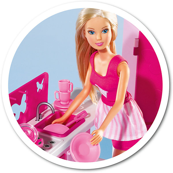 Кукла Штеффи на кухне с аксессуарами, 29 см, SimbaКуклы<br>Характеристики товара:<br><br>- цвет: разноцветный;<br>- материал: пластик;<br>- возраст: от трех лет;<br>- комплектация: кукла, аксессуары, декорации;<br>- высота куклы: 29 см.<br><br>Эта симпатичная кукла Штеффи от известного бренда не оставит девочку равнодушной! Какая девочка сможет отказаться поиграть с куклами, которые дополнены набором в виде целой комнаты и предметами из неё?! В набор входят аксессуары и предметы мебели для игр с куклой. Игрушка очень качественно выполнена, поэтому она станет замечательным подарком ребенку. <br>Продается набор в красивой удобной упаковке. Изделие произведено из высококачественного материала, безопасного для детей.<br><br>Куклу Штеффи на кухне с аксессуарами, 29 см, от бренда Simba можно купить в нашем интернет-магазине.<br><br>Ширина мм: 100<br>Глубина мм: 400<br>Высота мм: 330<br>Вес г: 940<br>Возраст от месяцев: 36<br>Возраст до месяцев: 120<br>Пол: Женский<br>Возраст: Детский<br>SKU: 5119510