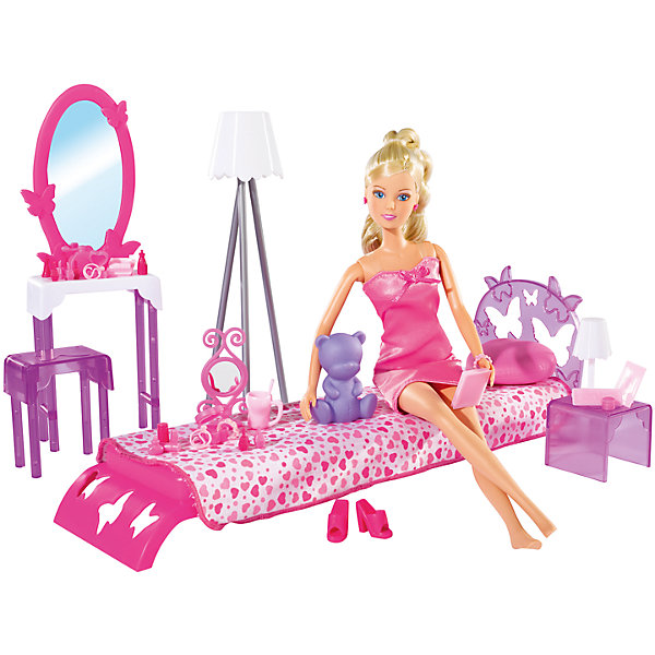 Кукла Штеффи в спальной комнате с аксессуарами, 29 см, SimbaНаборы с куклой<br>Характеристики товара:<br><br>- цвет: разноцветный;<br>- материал: пластик;<br>- возраст: от трех лет;<br>- комплектация: кукла, аксессуары, декорации;<br>- высота куклы: 29 см.<br><br>Эта симпатичная кукла Штеффи от известного бренда не оставит девочку равнодушной! Какая девочка сможет отказаться поиграть с куклами, которые дополнены набором в виде целой комнаты и предметами из неё?! В набор входят аксессуары и предметы мебели для игр с куклой. Игрушка очень качественно выполнена, поэтому она станет замечательным подарком ребенку. <br>Продается набор в красивой удобной упаковке. Изделие произведено из высококачественного материала, безопасного для детей.<br><br>Куклу Штеффи спальной комнате с аксессуарами, 29 см, от бренда Simba можно купить в нашем интернет-магазине.<br><br>Ширина мм: 100<br>Глубина мм: 400<br>Высота мм: 330<br>Вес г: 910<br>Возраст от месяцев: 36<br>Возраст до месяцев: 120<br>Пол: Женский<br>Возраст: Детский<br>SKU: 5119511