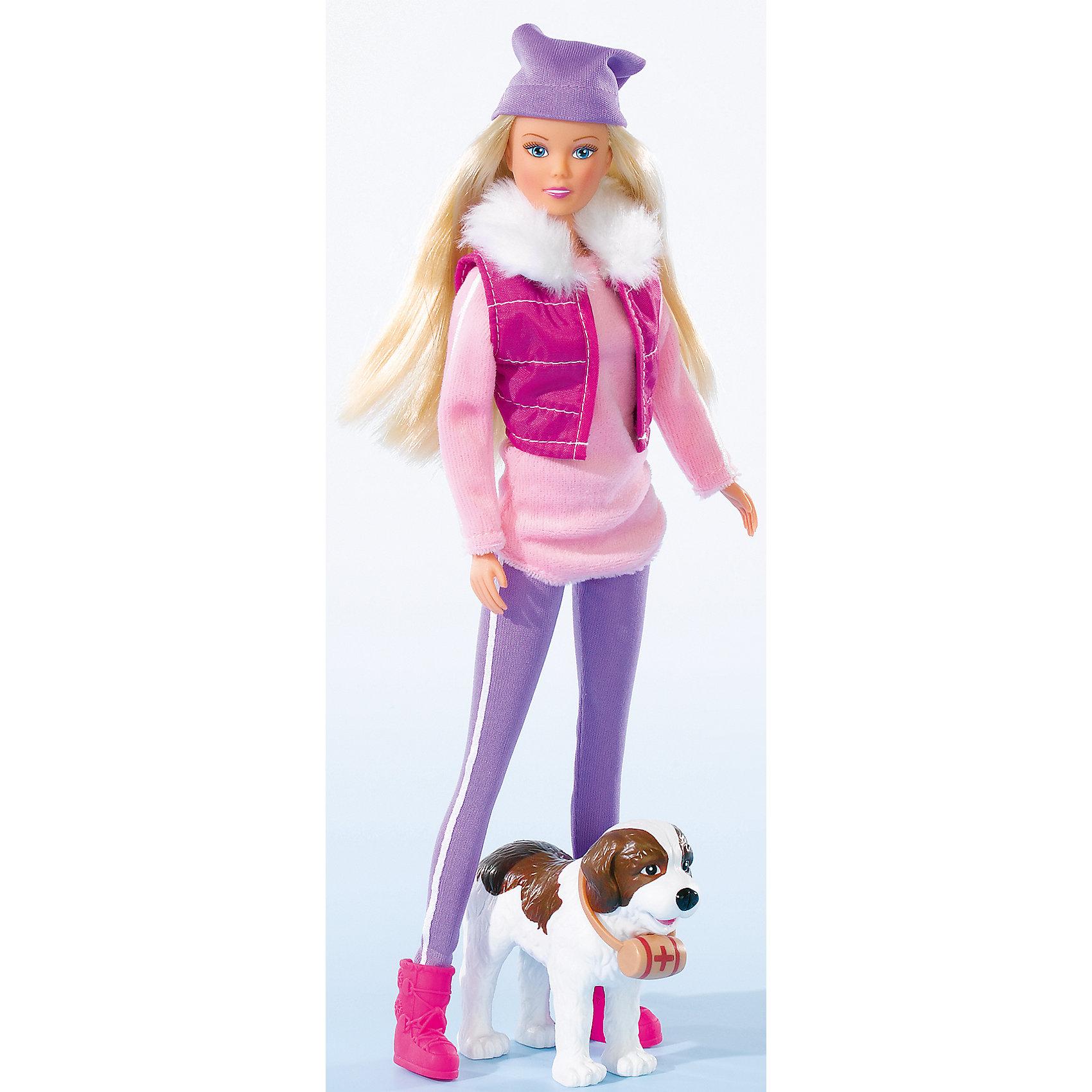 Simba Кукла Штеффи на прогулке с собакой, Simba куклы и одежда для кукол simba кукла штеффи minnie mouse вечеринка