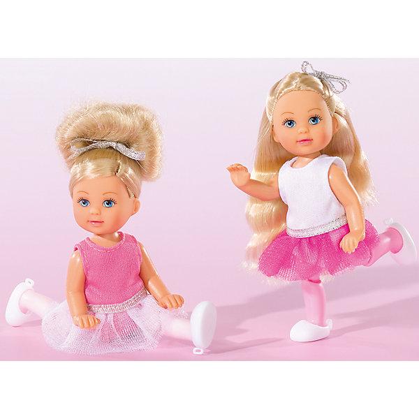 Кукла Еви-балерина, 12 см, SimbaБренды кукол<br>Характеристики товара:<br><br>- цвет: разноцветный;<br>- материал: пластик;<br>- возраст: от трех лет;<br>- комплектация: кукла, одежда;<br>- высота куклы: 12 см.<br><br>Эта симпатичная кукла Еви от известного бренда приводит детей в восторг! Какая девочка сможет отказаться поиграть с куклой, у которой есть шикарный наряд балерины?! У Еви двигаются руки и ноги. Игрушка очень качественно выполнена, поэтому она станет замечательным подарком ребенку. <br>Продается набор в красивой удобной упаковке. Изделие произведено из высококачественного материала, безопасного для детей.<br><br>Куклу Еви-балерина, 12 см, от бренда Simba можно купить в нашем интернет-магазине.<br>Ширина мм: 40; Глубина мм: 180; Высота мм: 160; Вес г: 600; Возраст от месяцев: 36; Возраст до месяцев: 120; Пол: Женский; Возраст: Детский; SKU: 5119515;