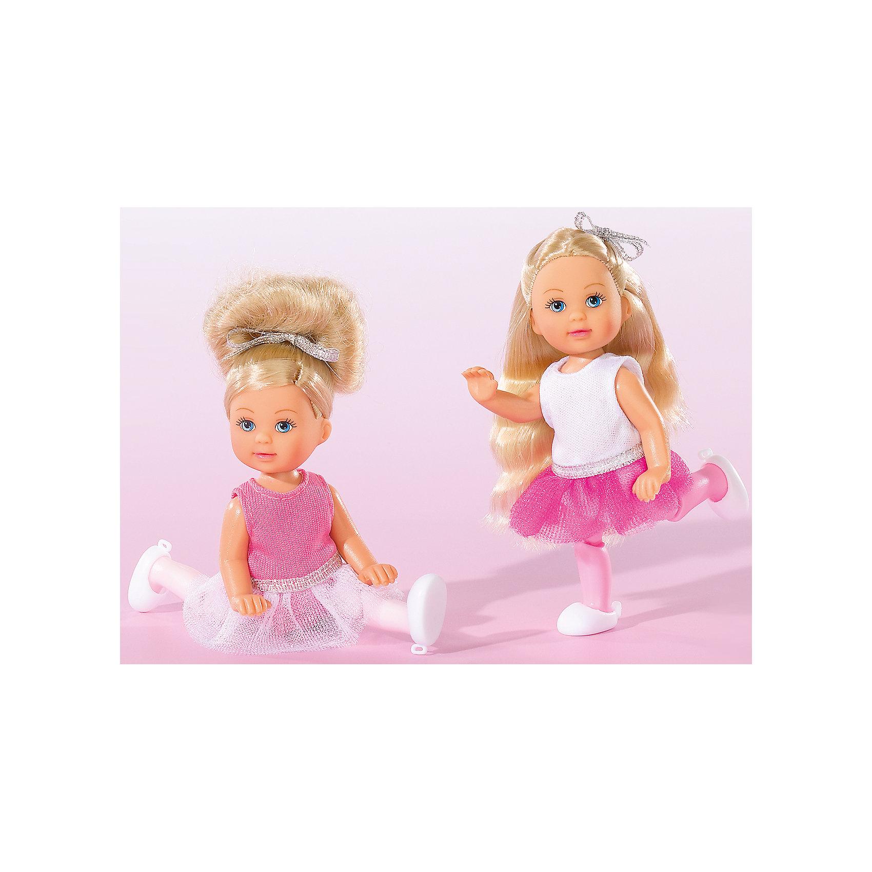 Кукла Еви-балерина, 12 см, SimbaSteffi и Evi Love<br>Характеристики товара:<br><br>- цвет: разноцветный;<br>- материал: пластик;<br>- возраст: от трех лет;<br>- комплектация: кукла, одежда;<br>- высота куклы: 12 см.<br><br>Эта симпатичная кукла Еви от известного бренда приводит детей в восторг! Какая девочка сможет отказаться поиграть с куклой, у которой есть шикарный наряд балерины?! У Еви двигаются руки и ноги. Игрушка очень качественно выполнена, поэтому она станет замечательным подарком ребенку. <br>Продается набор в красивой удобной упаковке. Изделие произведено из высококачественного материала, безопасного для детей.<br><br>Куклу Еви-балерина, 12 см, от бренда Simba можно купить в нашем интернет-магазине.<br><br>Ширина мм: 40<br>Глубина мм: 180<br>Высота мм: 160<br>Вес г: 600<br>Возраст от месяцев: 36<br>Возраст до месяцев: 120<br>Пол: Женский<br>Возраст: Детский<br>SKU: 5119515