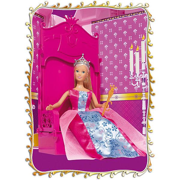 Кукла Штеффи и ее замок, SimbaКуклы<br>Характеристики товара:<br><br>- цвет: разноцветный;<br>- материал: пластик;<br>- возраст: от трех лет;<br>- комплектация: кукла, аксессуары, декорации;<br>- высота куклы: 29 см.<br><br>Эта симпатичная кукла Штеффи от известного бренда не оставит девочку равнодушной! Какая девочка сможет отказаться поиграть с куклами, которые дополнены набором в виде замка и предметами из него?! В набор входят аксессуары и предметы мебели для игр с куклой. Игрушка очень качественно выполнена, поэтому она станет замечательным подарком ребенку. <br>Продается набор в красивой удобной упаковке. Изделие произведено из высококачественного материала, безопасного для детей.<br><br>Куклу Штеффи и ее замок от бренда Simba можно купить в нашем интернет-магазине.<br>Ширина мм: 150; Глубина мм: 500; Высота мм: 400; Вес г: 2900; Возраст от месяцев: 36; Возраст до месяцев: 120; Пол: Женский; Возраст: Детский; SKU: 5119516;