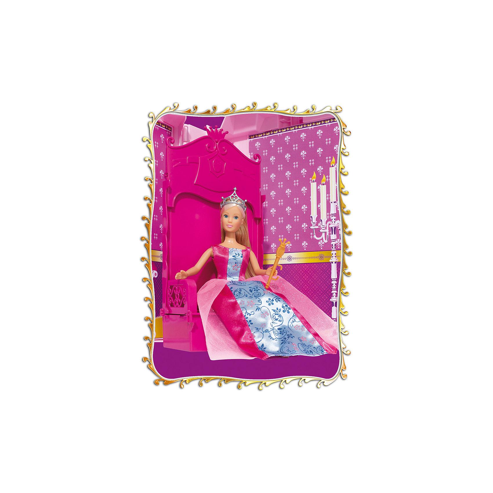 Кукла Штеффи и ее замок, SimbaХарактеристики товара:<br><br>- цвет: разноцветный;<br>- материал: пластик;<br>- возраст: от трех лет;<br>- комплектация: кукла, аксессуары, декорации;<br>- высота куклы: 29 см.<br><br>Эта симпатичная кукла Штеффи от известного бренда не оставит девочку равнодушной! Какая девочка сможет отказаться поиграть с куклами, которые дополнены набором в виде замка и предметами из него?! В набор входят аксессуары и предметы мебели для игр с куклой. Игрушка очень качественно выполнена, поэтому она станет замечательным подарком ребенку. <br>Продается набор в красивой удобной упаковке. Изделие произведено из высококачественного материала, безопасного для детей.<br><br>Куклу Штеффи и ее замок от бренда Simba можно купить в нашем интернет-магазине.<br><br>Ширина мм: 150<br>Глубина мм: 500<br>Высота мм: 400<br>Вес г: 2900<br>Возраст от месяцев: 36<br>Возраст до месяцев: 120<br>Пол: Женский<br>Возраст: Детский<br>SKU: 5119516