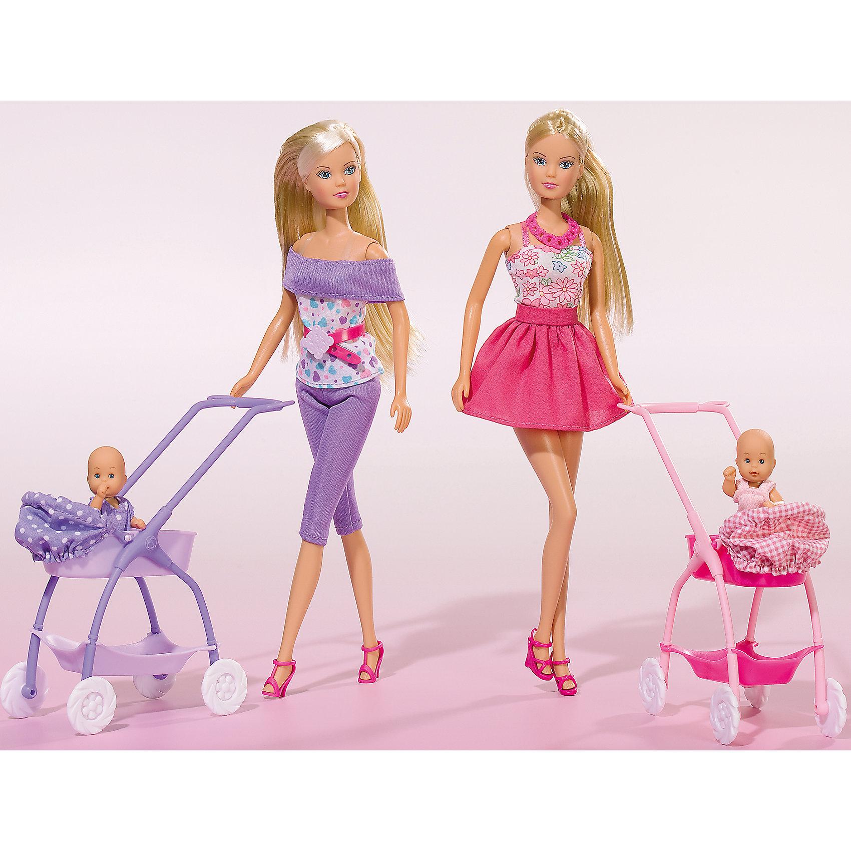 Кукла Штеффи с ребёнком, 29 см, SimbaSteffi и Evi Love<br>Характеристики товара:<br><br>- цвет: разноцветный;<br>- материал: пластик;<br>- возраст: от трех лет;<br>- комплектация: кукла, аксессуары, пупс;<br>- высота куклы: 29 см.<br><br>Эта симпатичная кукла Штеффи от известного бренда не оставит девочку равнодушной! Какая девочка сможет отказаться поиграть с куклами, которые дополнены набором в виде ребенка и предметов для него?! В набор входят аксессуары для игр с куклой. Игрушка очень качественно выполнена, поэтому она станет замечательным подарком ребенку. <br>Продается набор в красивой удобной упаковке. Изделие произведено из высококачественного материала, безопасного для детей.<br><br>Куклу Штеффи с ребёнком от бренда Simba можно купить в нашем интернет-магазине.<br><br>Ширина мм: 70<br>Глубина мм: 325<br>Высота мм: 200<br>Вес г: 354<br>Возраст от месяцев: 36<br>Возраст до месяцев: 120<br>Пол: Женский<br>Возраст: Детский<br>SKU: 5119520
