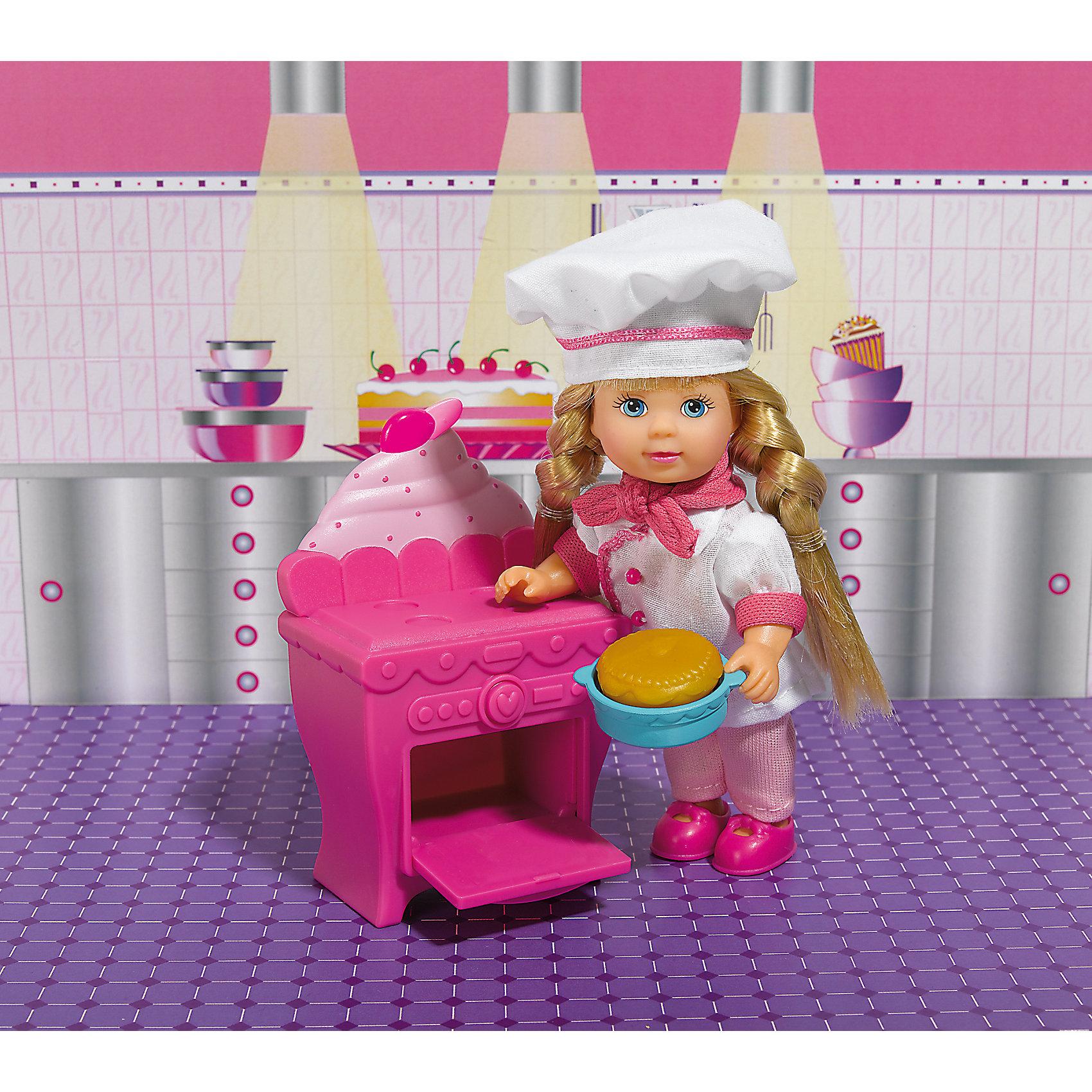 Кукла Еви печет торт, SimbaSteffi и Evi Love<br>Характеристики товара:<br><br>- цвет: разноцветный;<br>- материал: пластик;<br>- возраст: от трех лет;<br>- комплектация: кукла, одежда, мебель, аксессуары;<br>- высота куклы: 12 см.<br><br>Эта симпатичная кукла Еви от известного бренда приводит детей в восторг! Какая девочка сможет отказаться поиграть с куклами, которые дополнены набором в виде кухни и предметами для неё?! В набор входят аксессуары и предметы мебели для игр с куклой. Игрушка очень качественно выполнена, поэтому она станет замечательным подарком ребенку. <br>Продается набор в красивой удобной упаковке. Изделие произведено из высококачественного материала, безопасного для детей.<br><br>Куклу Еви печет торт от бренда Simba можно купить в нашем интернет-магазине.<br><br>Ширина мм: 120<br>Глубина мм: 160<br>Высота мм: 50<br>Вес г: 140<br>Возраст от месяцев: 36<br>Возраст до месяцев: 120<br>Пол: Женский<br>Возраст: Детский<br>SKU: 5119521