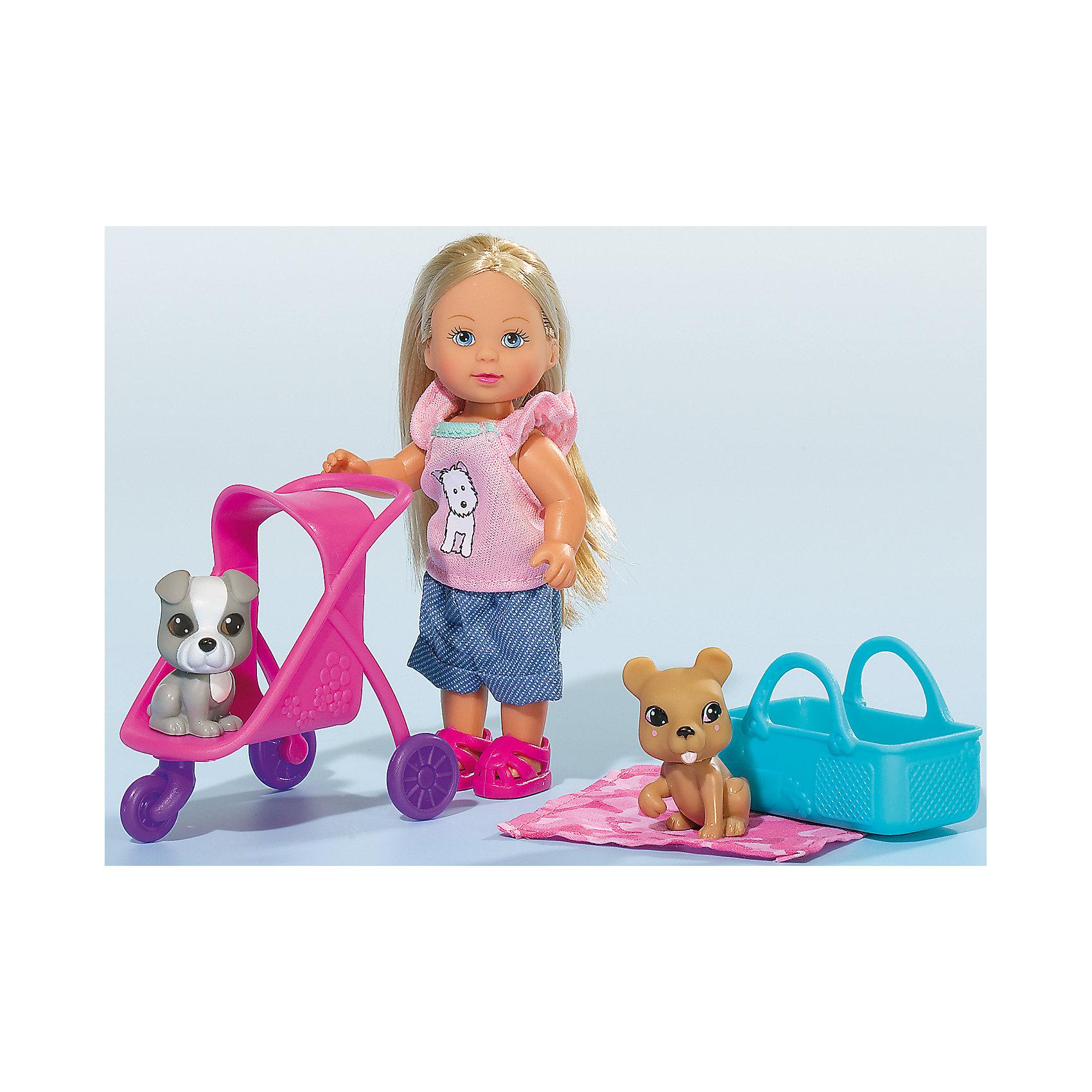Кукла Еви с двумя собачками и коляской, 12 см, SimbaБренды кукол<br>Характеристики товара:<br><br>- цвет: разноцветный;<br>- материал: пластик;<br>- возраст: от трех лет;<br>- комплектация: кукла, одежда, 2 фигурки животных, аксессуары;<br>- высота куклы: 12 см.<br><br>Эта симпатичная кукла Еви от известного бренда приводит детей в восторг! Какая девочка сможет отказаться поиграть с куклами, которые дополнены набором в виде животных?! В набор также входят аксессуары и для игр с куклой. Игрушка очень качественно выполнена, поэтому она станет замечательным подарком ребенку. <br>Продается набор в красивой удобной упаковке. Изделие произведено из высококачественного материала, безопасного для детей.<br><br>Куклу Еви с двумя собачками и коляской от бренда Simba можно купить в нашем интернет-магазине.<br><br>Ширина мм: 60<br>Глубина мм: 160<br>Высота мм: 120<br>Вес г: 130<br>Возраст от месяцев: 36<br>Возраст до месяцев: 120<br>Пол: Женский<br>Возраст: Детский<br>SKU: 5119522