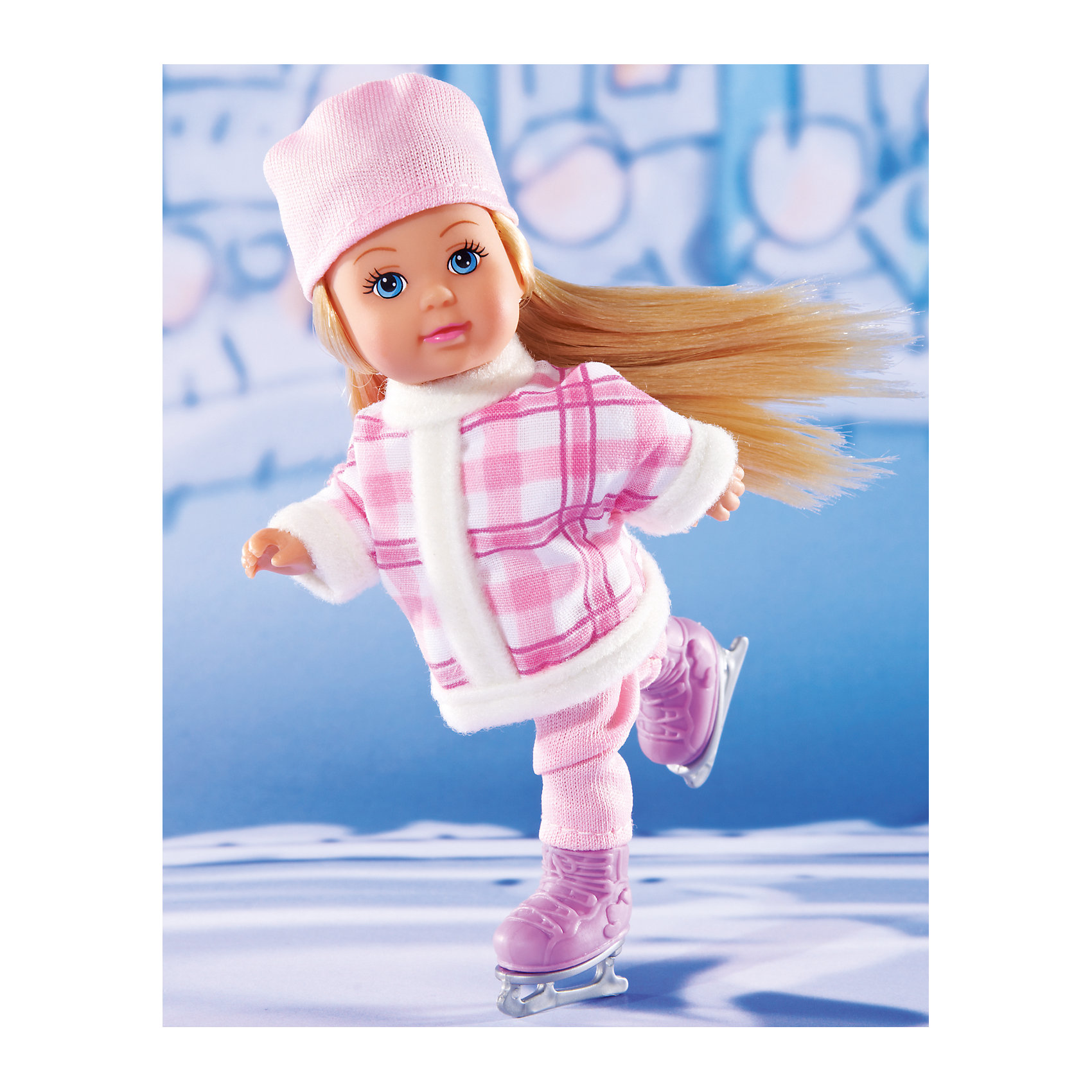 Simba Кукла Штеффи и Еви катаются на коньках, 29 см, Simba simba самолет инерционный цвет красный