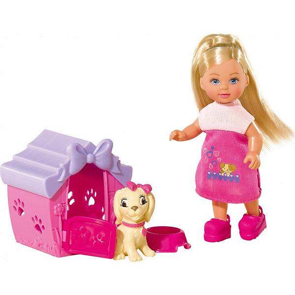 Кукла Еви с собачкой в домике, 12 см, SimbaКуклы<br>Характеристики товара:<br><br>- цвет: разноцветный;<br>- материал: пластик;<br>- возраст: от трех лет;<br>- комплектация: кукла, одежда, фигурка животного, аксессуары;<br>- высота куклы: 12 см.<br><br>Эта симпатичная кукла Еви от известного бренда приводит детей в восторг! Какая девочка сможет отказаться поиграть с куклами, которые дополнены набором в виде домашнего животного и предметов для него?! В набор также входят аксессуары и для игр с куклой. Игрушка очень качественно выполнена, поэтому она станет замечательным подарком ребенку. <br>Продается набор в красивой удобной упаковке. Изделие произведено из высококачественного материала, безопасного для детей.<br><br>Куклу Еви с собачкой в домике от бренда Simba можно купить в нашем интернет-магазине.<br>Ширина мм: 60; Глубина мм: 120; Высота мм: 160; Вес г: 160; Возраст от месяцев: 36; Возраст до месяцев: 120; Пол: Женский; Возраст: Детский; SKU: 5119525;