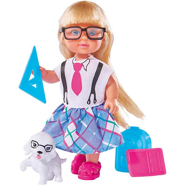 Кукла Еви и школьные принадлежности, SimbaКуклы<br>Характеристики товара:<br><br>- цвет: разноцветный;<br>- материал: пластик;<br>- возраст: от трех лет;<br>- комплектация: кукла, одежда, фигурка животного, аксессуары;<br>- высота куклы: 12 см.<br><br>Эта симпатичная кукла Еви от известного бренда приводит детей в восторг! Какая девочка сможет отказаться поиграть с куклами, которые дополнены набором в виде домашнего животного и полезных предметов?! В набор также входят аксессуары для игр с куклой. Игрушка очень качественно выполнена, поэтому она станет замечательным подарком ребенку. <br>Продается набор в красивой удобной упаковке. Изделие произведено из высококачественного материала, безопасного для детей.<br><br>Куклу Еви и школьные принадлежности от бренда Simba можно купить в нашем интернет-магазине.<br><br>Ширина мм: 45<br>Глубина мм: 160<br>Высота мм: 140<br>Вес г: 130<br>Возраст от месяцев: 36<br>Возраст до месяцев: 120<br>Пол: Женский<br>Возраст: Детский<br>SKU: 5119526
