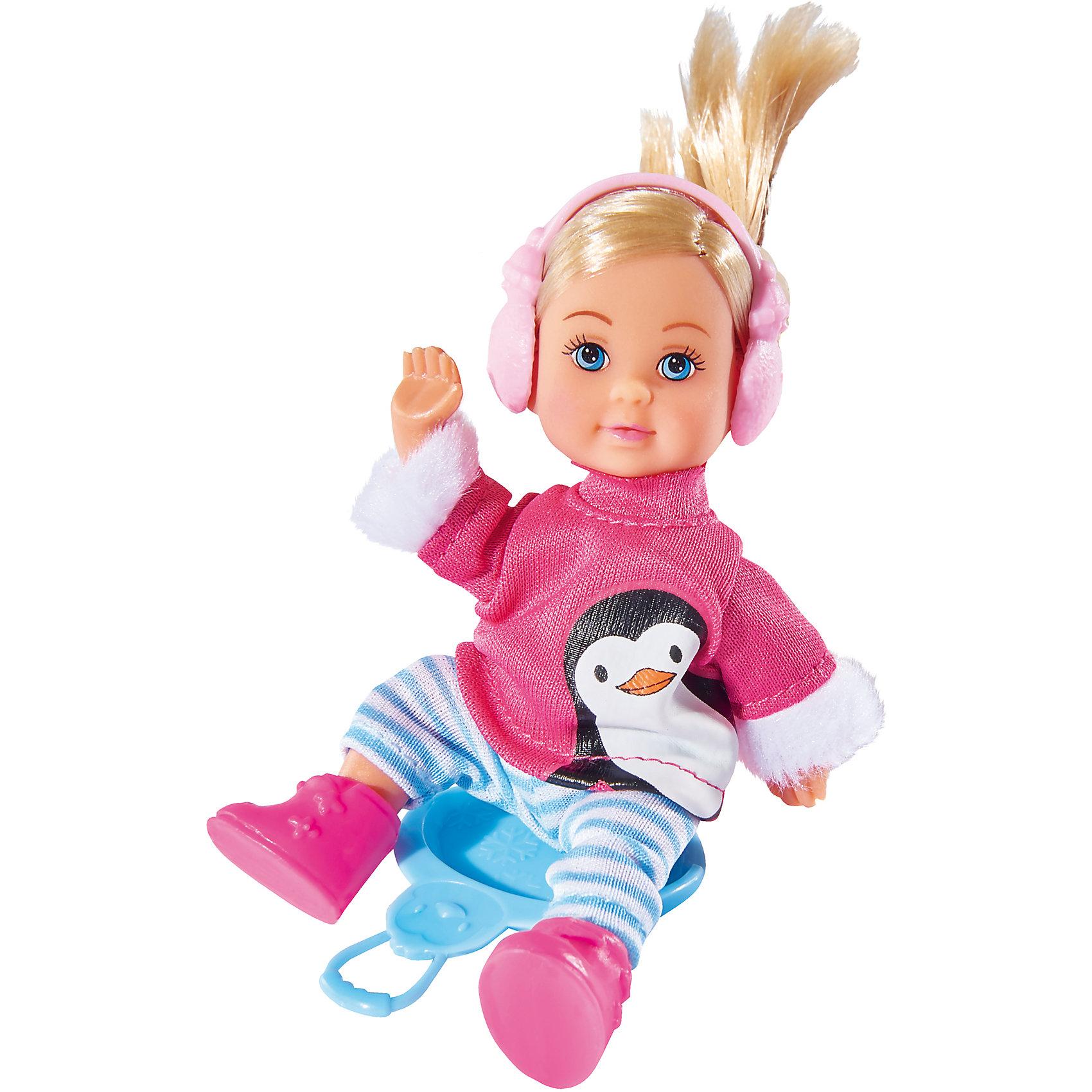 simba кукла еви с подружкой Simba Кукла Еви в зимнем костюме,12 см, Simba
