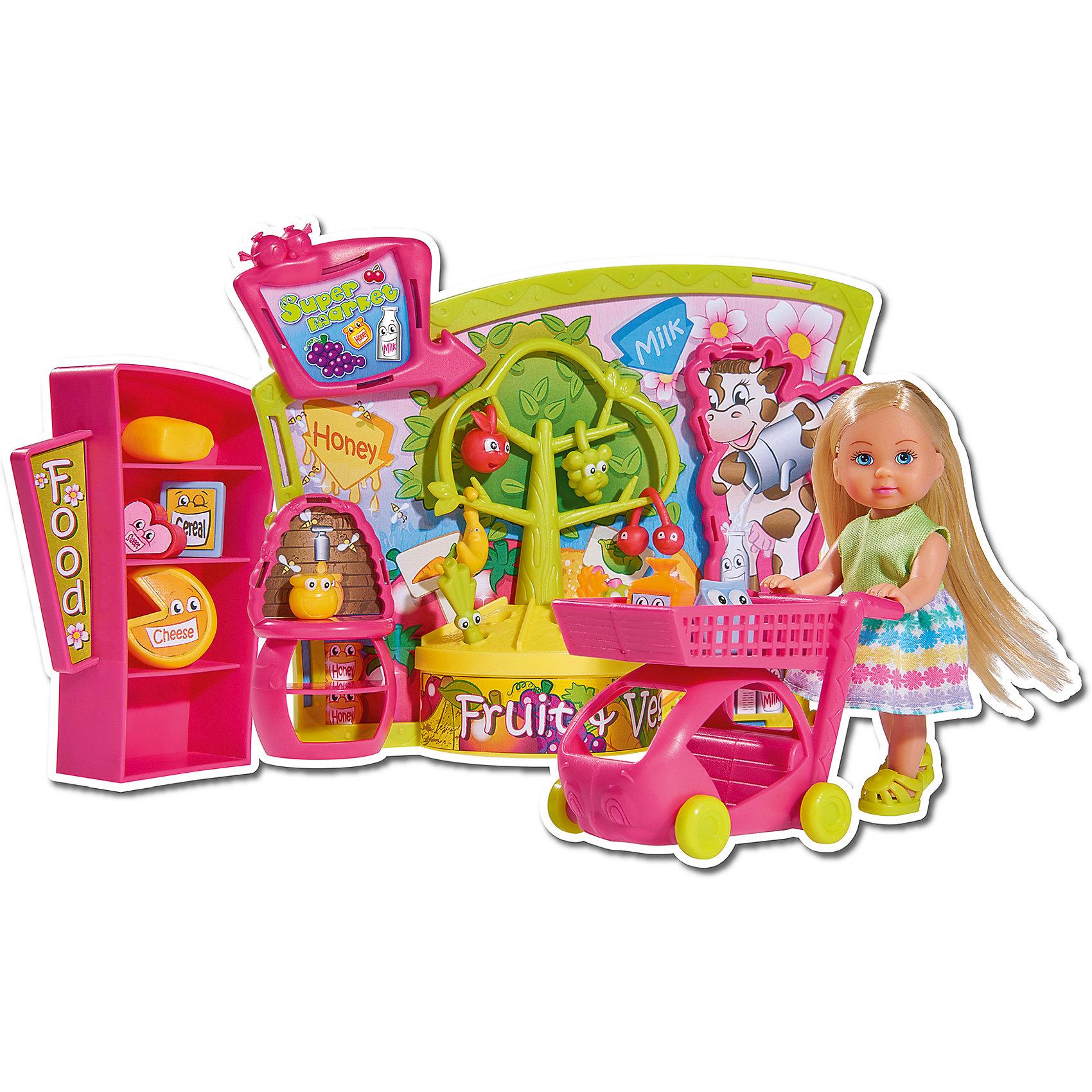 Кукла Еви в супермаркете, 12 см, SimbaХарактеристики товара:<br><br>- цвет: разноцветный;<br>- материал: пластик;<br>- возраст: от трех лет;<br>- комплектация: кукла, одежда, фигурка животного, аксессуары;<br>- высота куклы: 12 см.<br><br>Эта симпатичная кукла Еви от известного бренда приводит детей в восторг! Какая девочка сможет отказаться поиграть с куклами, которые дополнены набором в виде домашнего животного и полезных предметов?! В набор также входят аксессуары для игр с куклой. Игрушка очень качественно выполнена, поэтому она станет замечательным подарком ребенку. <br>Продается набор в красивой удобной упаковке. Изделие произведено из высококачественного материала, безопасного для детей.<br><br>Куклу Еви в супермаркете от бренда Simba можно купить в нашем интернет-магазине.<br><br>Ширина мм: 70<br>Глубина мм: 320<br>Высота мм: 200<br>Вес г: 500<br>Возраст от месяцев: 36<br>Возраст до месяцев: 120<br>Пол: Женский<br>Возраст: Детский<br>SKU: 5119528