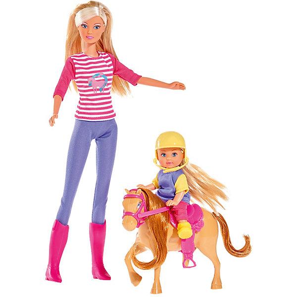 Кукла Штеффи и Еви с пони на ферме, 29 см, SimbaКуклы модели<br>Характеристики товара:<br><br>- цвет: разноцветный;<br>- материал: пластик, текстиль;<br>- возраст: от трех лет;<br>- комплектация: 2 куклы, одежда, аксесуары;<br>- высота кукок: 29 и 12 см.<br><br>Эта симпатичная кукла Штеффи в компании Еви от известного бренда приводит детей в восторг! Какая девочка сможет отказаться поиграть с куклами, которые дополнены такими симпатичными нарядами и лошадкой?! В набор входят аксессуары для игр с куклами. Игрушка очень качественно выполнена, поэтому она станет замечательным подарком ребенку. <br>Продается набор в красивой удобной упаковке. Игры с куклами помогают девочкам развить важные навыки и отработать модели социального взаимодействия. Изделие произведено из высококачественного материала, безопасного для детей.<br><br>Куклу Штеффи и Еви с пони на ферме, 29 см, от бренда Simba можно купить в нашем интернет-магазине.<br>Ширина мм: 332; Глубина мм: 185; Высота мм: 68; Вес г: 342; Возраст от месяцев: 36; Возраст до месяцев: 72; Пол: Женский; Возраст: Детский; SKU: 5119530;