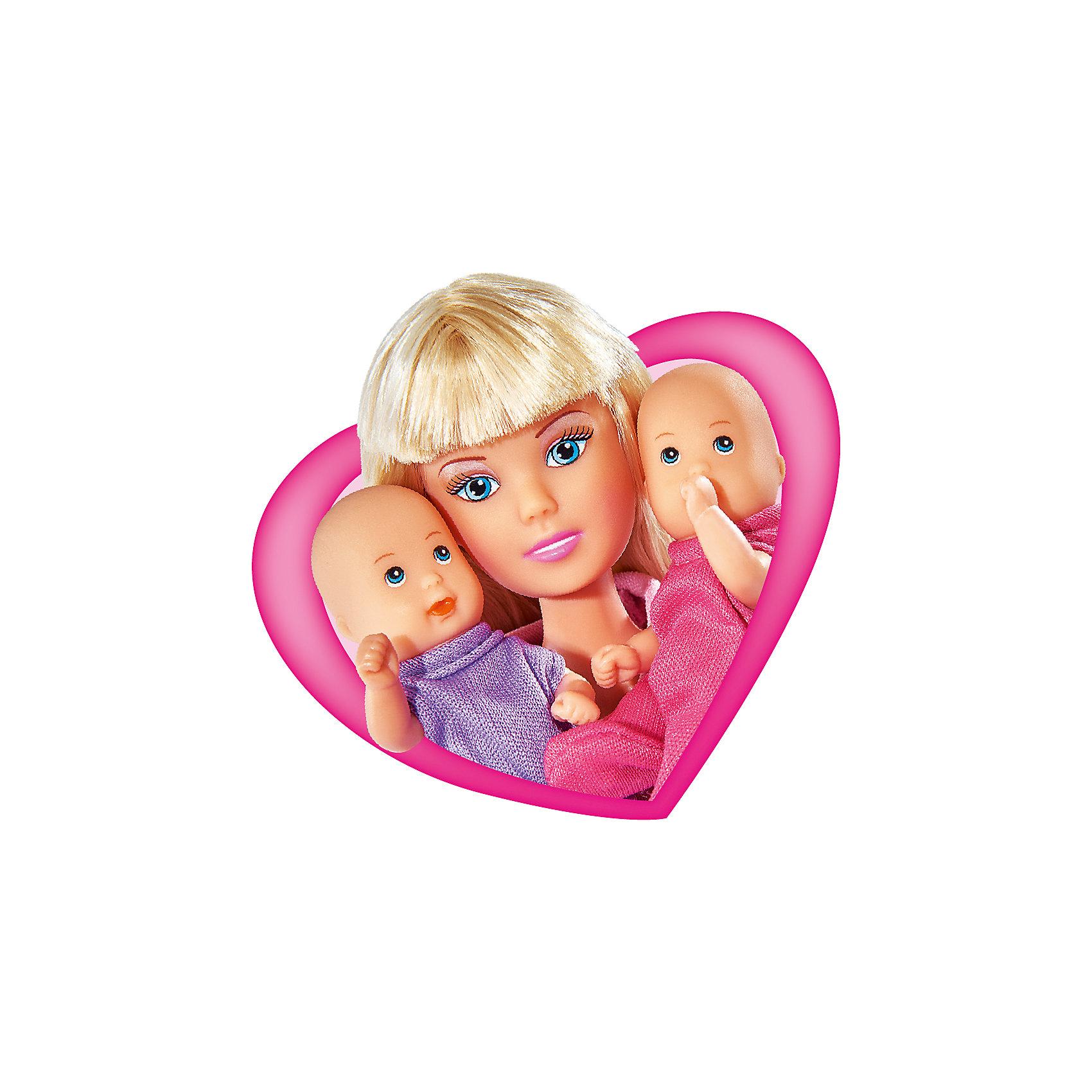 Кукла Штеффи с коляской, SimbaSteffi и Evi Love<br>Характеристики товара:<br><br>- цвет: разноцветный;<br>- материал: пластик;<br>- возраст: от трех лет;<br>- комплектация: кукла, аксессуары, 2 пупса;<br>- высота куклы: 29 см.<br><br>Эта симпатичная кукла Штеффи от известного бренда не оставит девочку равнодушной! Какая девочка сможет отказаться поиграть с куклами, которые дополнены набором в виде детей и предметов для них?! В набор входят аксессуары для игр с куклой. Игрушка очень качественно выполнена, поэтому она станет замечательным подарком ребенку. <br>Продается набор в красивой удобной упаковке. Изделие произведено из высококачественного материала, безопасного для детей.<br><br>Куклу Штеффи с коляской от бренда Simba можно купить в нашем интернет-магазине.<br><br>Ширина мм: 85<br>Глубина мм: 325<br>Высота мм: 260<br>Вес г: 540<br>Возраст от месяцев: 36<br>Возраст до месяцев: 120<br>Пол: Женский<br>Возраст: Детский<br>SKU: 5119531