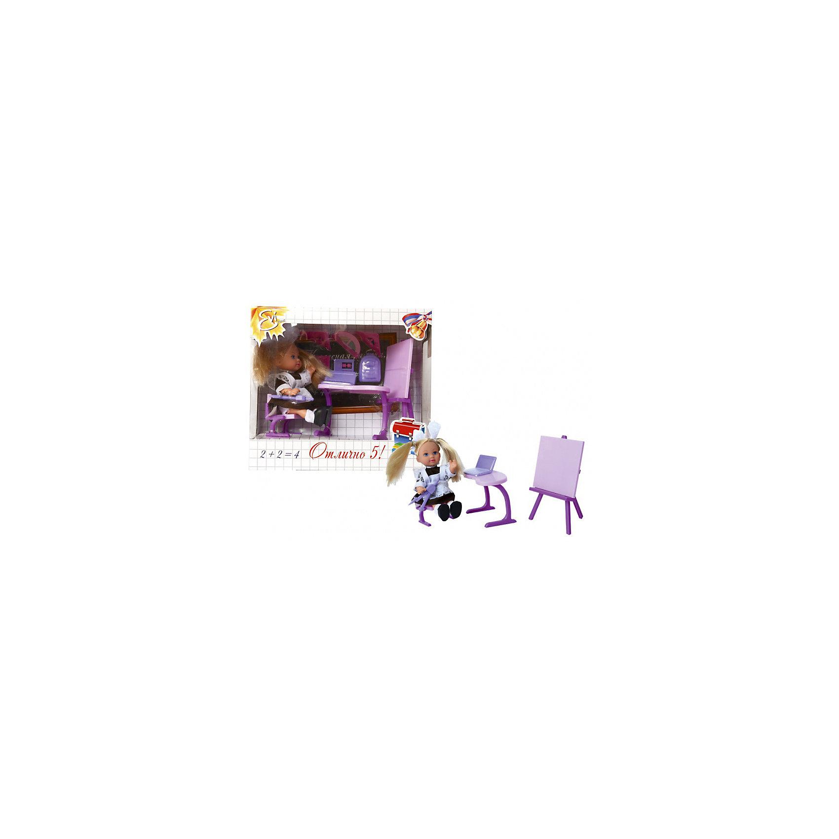 Кукла Еви-школьница, SimbaХарактеристики товара:<br><br>- цвет: разноцветный;<br>- материал: пластик;<br>- возраст: от трех лет;<br>- комплектация: кукла, одежда, фигурка животного, аксессуары;<br>- высота куклы: 12 см.<br><br>Эта симпатичная кукла Еви от известного бренда приводит детей в восторг! Какая девочка сможет отказаться поиграть с куклами, которые дополнены набором в виде полезных предметов?! В набор также входят аксессуары для игр с куклой на школьную тематику. Игрушка очень качественно выполнена, поэтому она станет замечательным подарком ребенку. <br>Продается набор в красивой удобной упаковке. Игры с куклами помогают девочкам развить важные навыки и отработать модели социального взаимодействия. Изделие произведено из высококачественного материала, безопасного для детей.<br><br>Куклу Еви-школьница от бренда Simba можно купить в нашем интернет-магазине.<br><br>Ширина мм: 180<br>Глубина мм: 160<br>Высота мм: 90<br>Вес г: 100<br>Возраст от месяцев: 36<br>Возраст до месяцев: 120<br>Пол: Женский<br>Возраст: Детский<br>SKU: 5119532