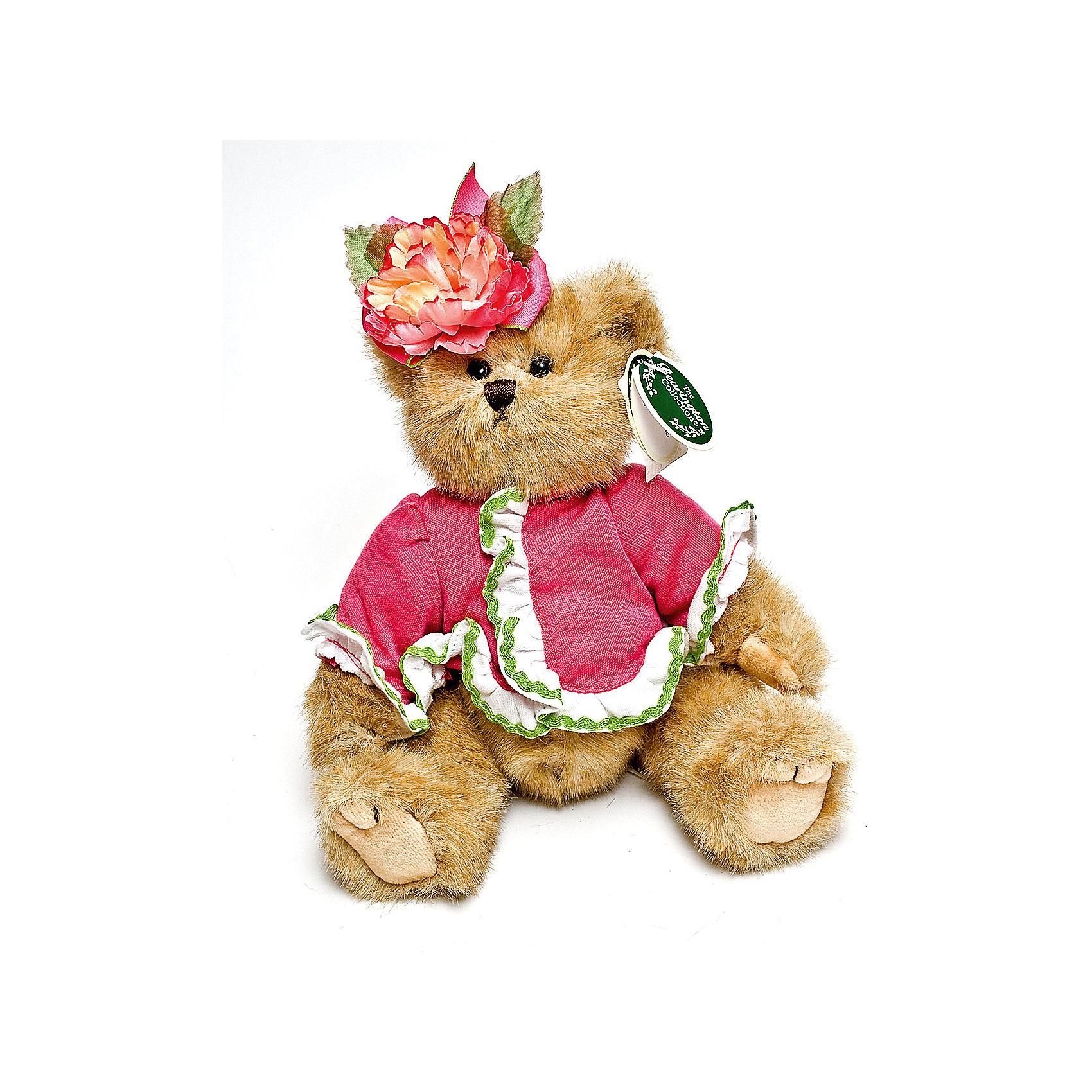 Мишка, 25 см, BearingtonМишка, 25 см, Bearington (Берингтон).<br><br>Характеристики:<br><br>- Высота игрушки: 25 см.<br>- Материал: искусственный мех, текстиль, набивка - полиэфирное волокно<br><br>Симпатичный мишка Тедди в розовой кофточке и с цветком на голове от американской компании Bearington (Берингтон) покорит Вас обаянием и красотой. Игрушка непременно вызовет положительные эмоции и подарит Вам свою любовь и тепло. У мишки очаровательная мордочка, забавный носик и черные как угольки глазки. Игрушка изготовлена из нежного высококачественного искусственного меха по классическим традициям производства мишек Тедди. Лапки игрушки крепятся таким образом, что их можно вращать по отношению к туловищу на 360 градусов, и придавать мишке разнообразные позы. Голова вращается. Чудесная кофточка сшита из высококачественных экологически чистых материалов. Крой и отделка наряда созданы с любовью, что придает игрушке особый шарм. Кофточку можно снимать и одевать. Играть с мишкой Тедди от Беарингтон также интересно, как и с куклами. Благодаря чудесному образу и высококачественному исполнению мишка станет лучшим подарком для девочек и девушек с утонченным изысканным вкусом и для коллекционеров мишек Тедди.<br><br>Мишку, 25 см, Bearington (Берингтон) можно купить в нашем интернет-магазине.<br><br>Ширина мм: 80<br>Глубина мм: 50<br>Высота мм: 250<br>Вес г: 160<br>Возраст от месяцев: 36<br>Возраст до месяцев: 2147483647<br>Пол: Женский<br>Возраст: Детский<br>SKU: 5119964