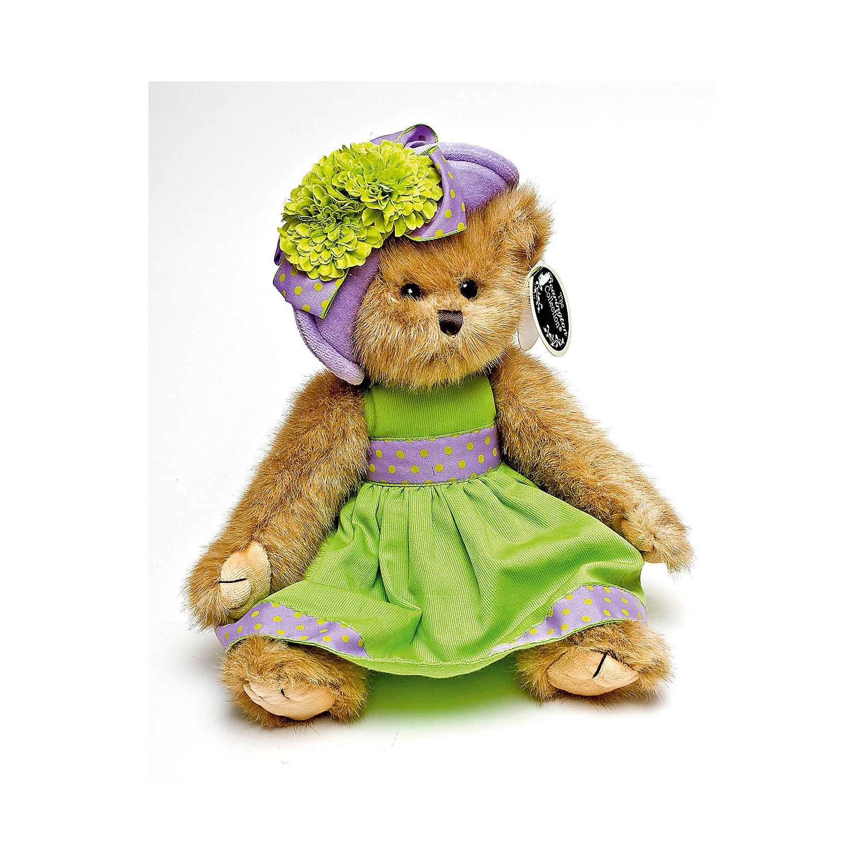 Мишка, 36 см, BearingtonМишка, 36 см, Bearington (Берингтон).<br><br>Характеристики:<br><br>- Высота игрушки: 36 см.<br>- Материал: искусственный мех, текстиль, набивка - полиэфирное волокно<br><br>Симпатичный мишка Тедди в салатовом платье с сиреневой окантовкой и сиреневой шляпке с цветком от американской компании Bearington (Берингтон) покорит Вас обаянием и красотой. Игрушка непременно вызовет положительные эмоции и подарит Вам свою любовь и тепло. У мишки очаровательная мордочка, забавный носик и черные как угольки глазки. Игрушка изготовлена из нежного высококачественного искусственного меха по классическим традициям производства мишек Тедди. Лапки игрушки крепятся таким образом, что их можно вращать по отношению к туловищу на 360 градусов, и придавать мишке разнообразные позы. Голова вращается. Чудесное платье и шляпка сшиты из высококачественных экологически чистых материалов. Крой и отделка наряда созданы с любовью, что придает игрушке особый шарм. Платье и шляпку можно снимать и одевать. Играть с мишкой Тедди от Беарингтон также интересно, как и с куклами. Благодаря чудесному образу и высококачественному исполнению мишка станет лучшим подарком для девочек и девушек с утонченным изысканным вкусом и для коллекционеров мишек Тедди.<br><br>Мишку, 36 см, Bearington (Берингтон) можно купить в нашем интернет-магазине.<br><br>Ширина мм: 9999<br>Глубина мм: 9999<br>Высота мм: 9999<br>Вес г: 270<br>Возраст от месяцев: 36<br>Возраст до месяцев: 2147483647<br>Пол: Женский<br>Возраст: Детский<br>SKU: 5119966