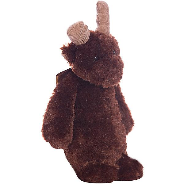 Лось, 25 см, BearingtonМягкие игрушки животные<br>Лось, 25 см, Bearington (Берингтон).<br><br>Характеристики:<br><br>- Высота игрушки: 25 см.<br>- Цвет: коричневый<br>- Материал: искусственный мех, текстиль, набивка - полиэфирное волокно<br><br>Симпатичный Лось с бантиком от американской компании Bearington (Берингтон) покорит Вас обаянием и красотой. Игрушка непременно вызовет положительные эмоции и подарит Вам свою любовь и тепло. У лося очаровательная мордочка и черные как угольки глазки. Игрушка изготовлена из нежного высококачественного искусственного меха. Играть с лосем от Беарингтон также интересно, как и с куклами. Благодаря чудесному образу и высококачественному исполнению игрушка станет лучшим подарком для девочек и девушек, и для ценителей коллекционных игрушек.<br><br>Лося, 25 см, Bearington (Берингтон) можно купить в нашем интернет-магазине.<br><br>Ширина мм: 60<br>Глубина мм: 40<br>Высота мм: 250<br>Вес г: 160<br>Возраст от месяцев: 36<br>Возраст до месяцев: 2147483647<br>Пол: Унисекс<br>Возраст: Детский<br>SKU: 5119969