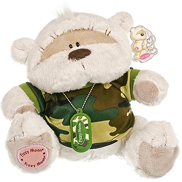 Мишка, 20 см, Fizzy MoonМягкие игрушки животные<br>Мишка, 20 см, Fizzy Moon (Физзи Мун).<br><br>Характеристики:<br><br>- Размер: 20 см.<br>- Материал: искусственный мех, текстиль<br><br>Сидящий медвежонок по имени Физзи Мун в камуфляжной футболке и с армейским жетоном на шее с надписью Fizzy Moon вызывает только положительные эмоции. Трогательный и обаятельный мишка порадует как детей, так и взрослых. У мишки умилительная смешная мордашка, забавный носик и черные как угольки глазки. Он изготовлен из высококачественных материалов. Fizzy Moon (Физзи Мун) всемирно известный бренд игрушек, который уже завоевал любовь и популярность! Добрый мишка Физзи Мун станет отличным подарком!<br><br>Мишку, 20 см, Fizzy Moon (Физзи Мун) можно купить в нашем интернет-магазине.<br>Ширина мм: 100; Глубина мм: 60; Высота мм: 200; Вес г: 280; Возраст от месяцев: 36; Возраст до месяцев: 2147483647; Пол: Мужской; Возраст: Детский; SKU: 5119976;