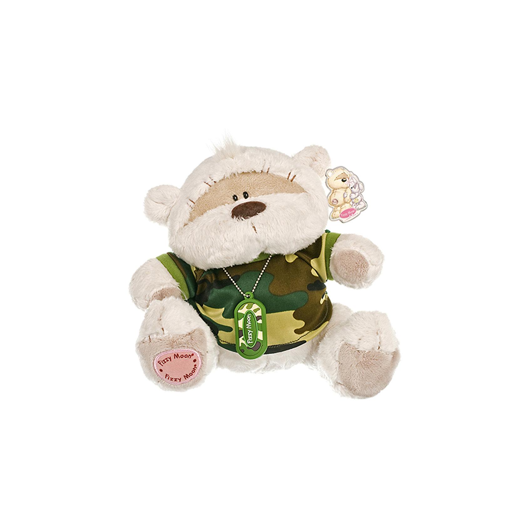 Мишка, 20 см, Fizzy MoonМедвежата<br>Мишка, 20 см, Fizzy Moon (Физзи Мун).<br><br>Характеристики:<br><br>- Размер: 20 см.<br>- Материал: искусственный мех, текстиль<br><br>Сидящий медвежонок по имени Физзи Мун в камуфляжной футболке и с армейским жетоном на шее с надписью Fizzy Moon вызывает только положительные эмоции. Трогательный и обаятельный мишка порадует как детей, так и взрослых. У мишки умилительная смешная мордашка, забавный носик и черные как угольки глазки. Он изготовлен из высококачественных материалов. Fizzy Moon (Физзи Мун) всемирно известный бренд игрушек, который уже завоевал любовь и популярность! Добрый мишка Физзи Мун станет отличным подарком!<br><br>Мишку, 20 см, Fizzy Moon (Физзи Мун) можно купить в нашем интернет-магазине.<br><br>Ширина мм: 100<br>Глубина мм: 60<br>Высота мм: 200<br>Вес г: 280<br>Возраст от месяцев: 36<br>Возраст до месяцев: 2147483647<br>Пол: Мужской<br>Возраст: Детский<br>SKU: 5119976