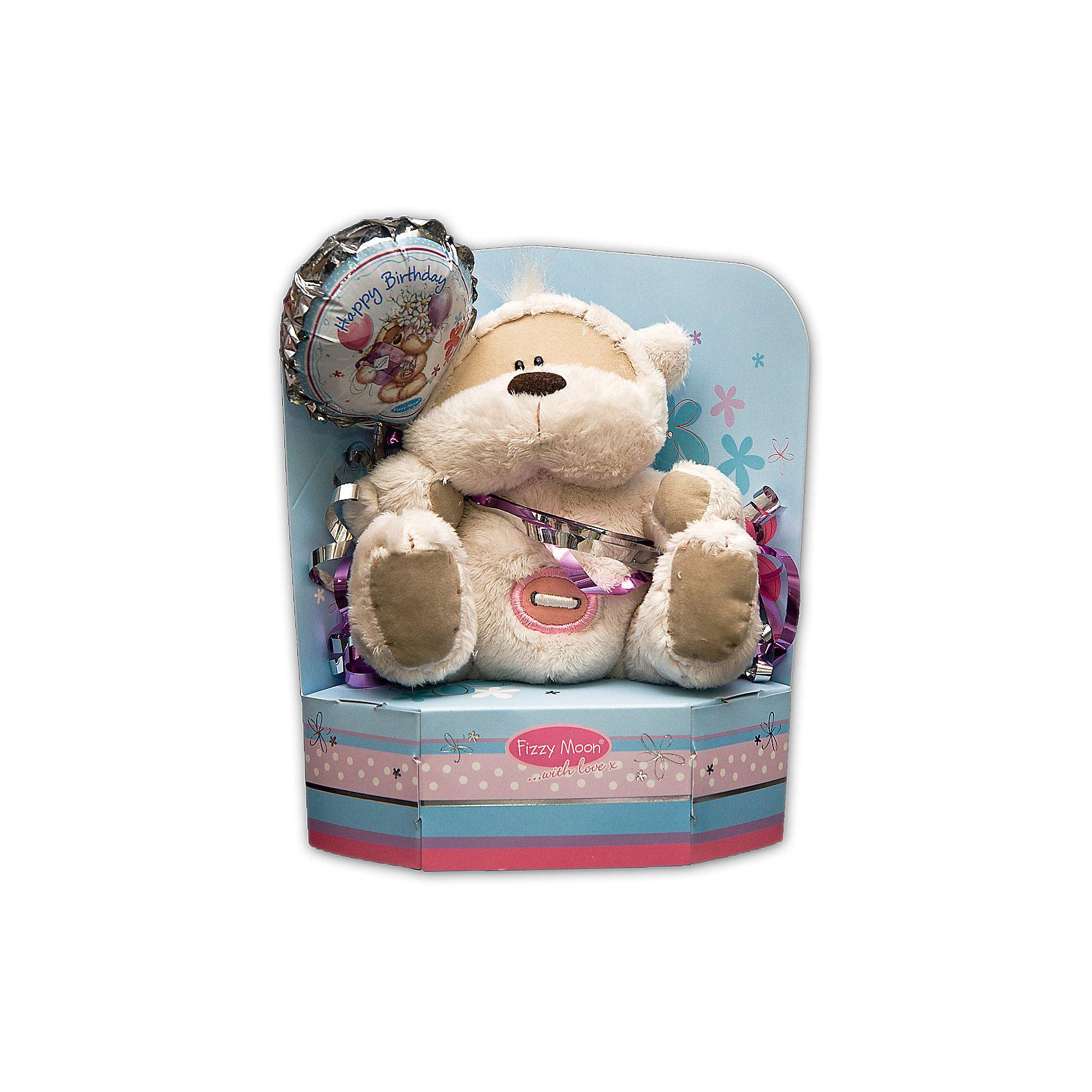 Мишка, 13 см, Fizzy MoonМедвежата<br>Мишка, 13 см, Fizzy Moon (Физзи Мун).<br><br>Характеристики:<br><br>- Размер: 13 см.<br>- Материал: искусственный мех, текстиль<br><br>Сентиментальный медвежонок по имени Физзи Мун с неизменной розовой пуговичкой на круглом животике и воздушным шариком с надписью Happy Birthday в лапах, сидящий на подставке, вызывает только положительные эмоции. Трогательный и обаятельный мишка порадует как детей, так и взрослых. У мишки умилительная смешная мордашка, забавный носик и черные как угольки глазки. Он изготовлен из высококачественных материалов. Fizzy Moon (Физзи Мун) всемирно известный бренд игрушек, который уже завоевал любовь и популярность! Добрый мишка Физзи Мун станет отличным подарком!<br><br>Мишку, 13 см, Fizzy Moon (Физзи Мун) можно купить в нашем интернет-магазине.<br><br>Ширина мм: 110<br>Глубина мм: 80<br>Высота мм: 140<br>Вес г: 160<br>Возраст от месяцев: 36<br>Возраст до месяцев: 2147483647<br>Пол: Женский<br>Возраст: Детский<br>SKU: 5119977