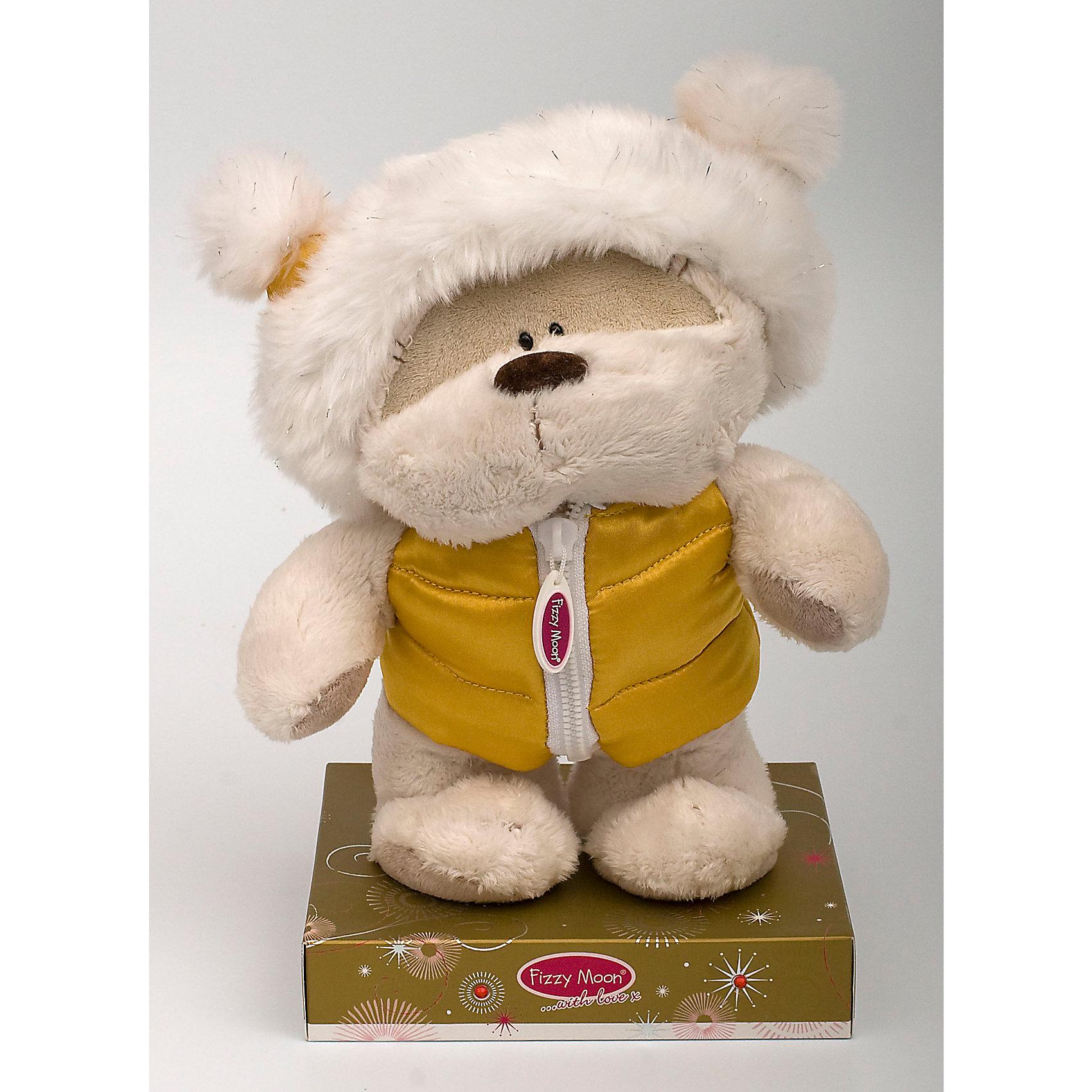 Мишка, 20 см, Fizzy MoonМедвежата<br>Мишка, 20 см, Fizzy Moon (Физзи Мун).<br><br>Характеристики:<br><br>- Размер: 20 см.<br>- Материал: искусственный мех, текстиль<br><br>Сентиментальный медвежонок по имени Физзи Мун в желтом атласном жилете и теплой шапке, стоящий на подставке, вызывает только положительные эмоции. Трогательный и обаятельный мишка порадует как детей, так и взрослых. У мишки умилительная смешная мордашка, забавный носик и черные как угольки глазки. Он изготовлен из высококачественных материалов. Fizzy Moon (Физзи Мун) всемирно известный бренд игрушек, который уже завоевал любовь и популярность! Добрый мишка Физзи Мун станет отличным подарком!<br><br>Мишку, 20 см, Fizzy Moon (Физзи Мун) можно купить в нашем интернет-магазине.<br><br>Ширина мм: 100<br>Глубина мм: 70<br>Высота мм: 210<br>Вес г: 280<br>Возраст от месяцев: 36<br>Возраст до месяцев: 2147483647<br>Пол: Унисекс<br>Возраст: Детский<br>SKU: 5119979