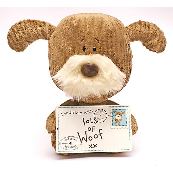 Собачка, 28 см, Lots of WoofМягкие игрушки животные<br>Собачка, 28 см, Lots of Woof.<br><br>Характеристики:<br><br>- Размер: 28 см.<br>- Материал: полиэстер<br><br>Оригинальная сидящая собачка Lots of Woof с письмом «Ive arrived with Lots of Woof» станет приятным подарком другу или любимому человеку. Зачем ждать праздников и каких либо поводов, когда можно сделать приятное своим друзьям прямо сейчас.<br><br>Собачку, 28 см, Lots of Woof можно купить в нашем интернет-магазине.<br><br>Ширина мм: 100<br>Глубина мм: 50<br>Высота мм: 280<br>Вес г: 35<br>Возраст от месяцев: 36<br>Возраст до месяцев: 2147483647<br>Пол: Унисекс<br>Возраст: Детский<br>SKU: 5119990