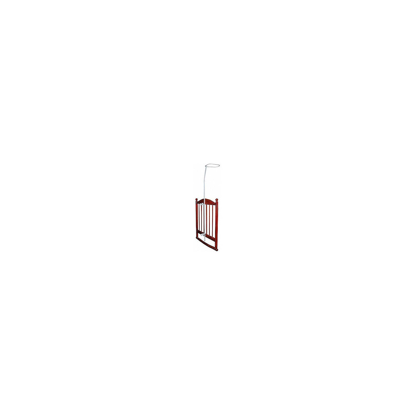 Держатель балдахина, с двойным креплением, в пеналеХарактеристики:<br><br>• Наименование: стойка-держатель для балдахина<br>• Пол: универсальный<br>• Материал: металл<br>• Цвет: белый<br>• Наличие двойного крепления<br>• Наличие сборной конструкции<br>• Предусмотрена регулировка по высоте <br>• Предусмотрена упаковка из плотного картона<br>• Размер (Д*Ш*В): 67*19*155 см<br>• Вес: 1 кг<br><br>Держатель балдахина, с двойным креплением, в пенале предназначен для детских кроваток. Изготовлен из металла, поверхность которого окрашена нетоксичной безопасной краской белого цвета. Держатель выполнен в виде стойки, закрепляющейся за счет двух надежных креплений. Сверху в виде петли имеется крепление для балдахина. Держатель балдахина создаст уют и комфорт для вашего малыша в кроватке.<br><br>Держатель балдахина, с двойным креплением, в пенале можно купить в нашем интернет-магазине.<br><br>Ширина мм: 800<br>Глубина мм: 100<br>Высота мм: 100<br>Вес г: 1000<br>Возраст от месяцев: 0<br>Возраст до месяцев: 36<br>Пол: Унисекс<br>Возраст: Детский<br>SKU: 5120607