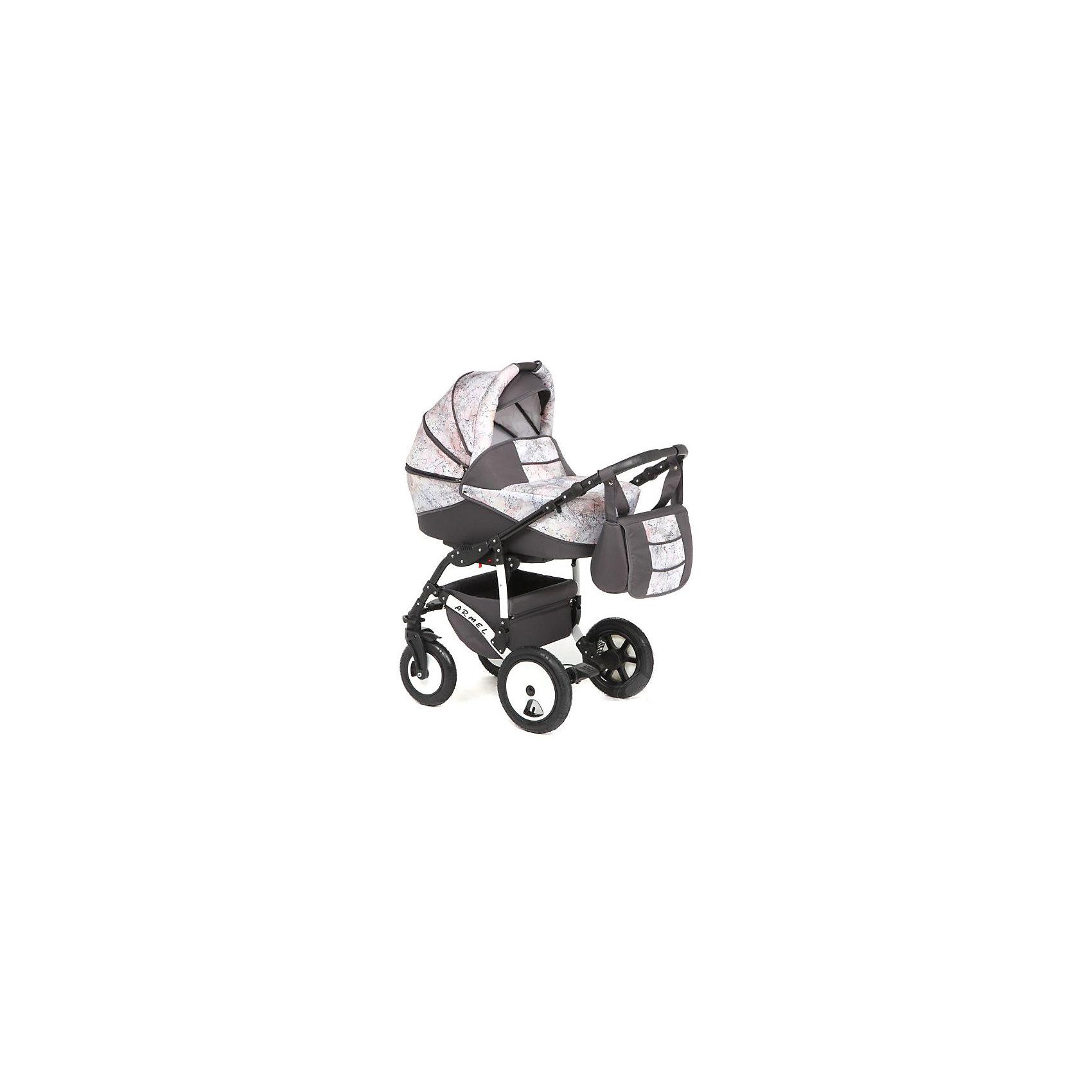 Коляска 2 в 1 ARMEL, Marimex, т.серый-бежевый принт акварельХарактеристики:<br><br>• Наименование: коляска 2 в 1<br>• Сезон: круглый год<br>• Пол: универсальный<br>• Материал: металл, пластик, резина, текстиль<br>• Цвет: темно-серый, белый, серый<br>• Тип колес: надувные<br>• Диаметр передних колес: 25 см<br>• Диаметр задних колес: 31 см<br>• Ширина шасси: 59 см<br>• Механизм складывания: книжка<br>• Амортизация: пружинный механизм<br>• Наличие ремней безопасности<br>• Размеры люльки (Ш*Д*В): 33*75*18 см<br>• Размеры прогулочного блока (Ш*Д*В): 33*91 см<br>• Вес: 15 кг 500 г<br>• Спинка у прогулочного блока регулируемая<br>• Ручка регулируется по высоте<br>• Наличие накидки на ножки<br>• Дополнительно: дождевик, антимоскитная сетка, сумка для детских принадлежностей<br><br>ВНИМАНИЕ!!! Вставки с рисунком на коляске могут отличаться от представленных на фото!<br><br>Коляска 2 в 1 ARMEL, Marimex, т.серый-бежевый принт акварель – это коляска, отвечающая всем международным требованиям безопасности для детей возрастом до 3-х лет включительно. Комплектацияколяски предусматривает просторную люльку с твердым днищем и тканевой отделкой из натуральных материалов, обработанных специальным составом, препятствующим проникновению влаги и защитой от ветра. Коляска имеет легкий вес и компактные размеры, достаточно легко складывается и меняется на прогулочный блок. Передние поворотные колеса и пружинная амортизация обеспечивают плавный ход коляски даже по неровным дорогам. Коляска выполнена в ярком модном дизайне. <br><br>Коляску 2 в 1 ARMEL, Marimex, т.серый-бежевый принт акварель можно купить в нашем интернет-магазине.<br><br>Ширина мм: 1100<br>Глубина мм: 620<br>Высота мм: 400<br>Вес г: 21000<br>Возраст от месяцев: 0<br>Возраст до месяцев: 36<br>Пол: Унисекс<br>Возраст: Детский<br>SKU: 5120617