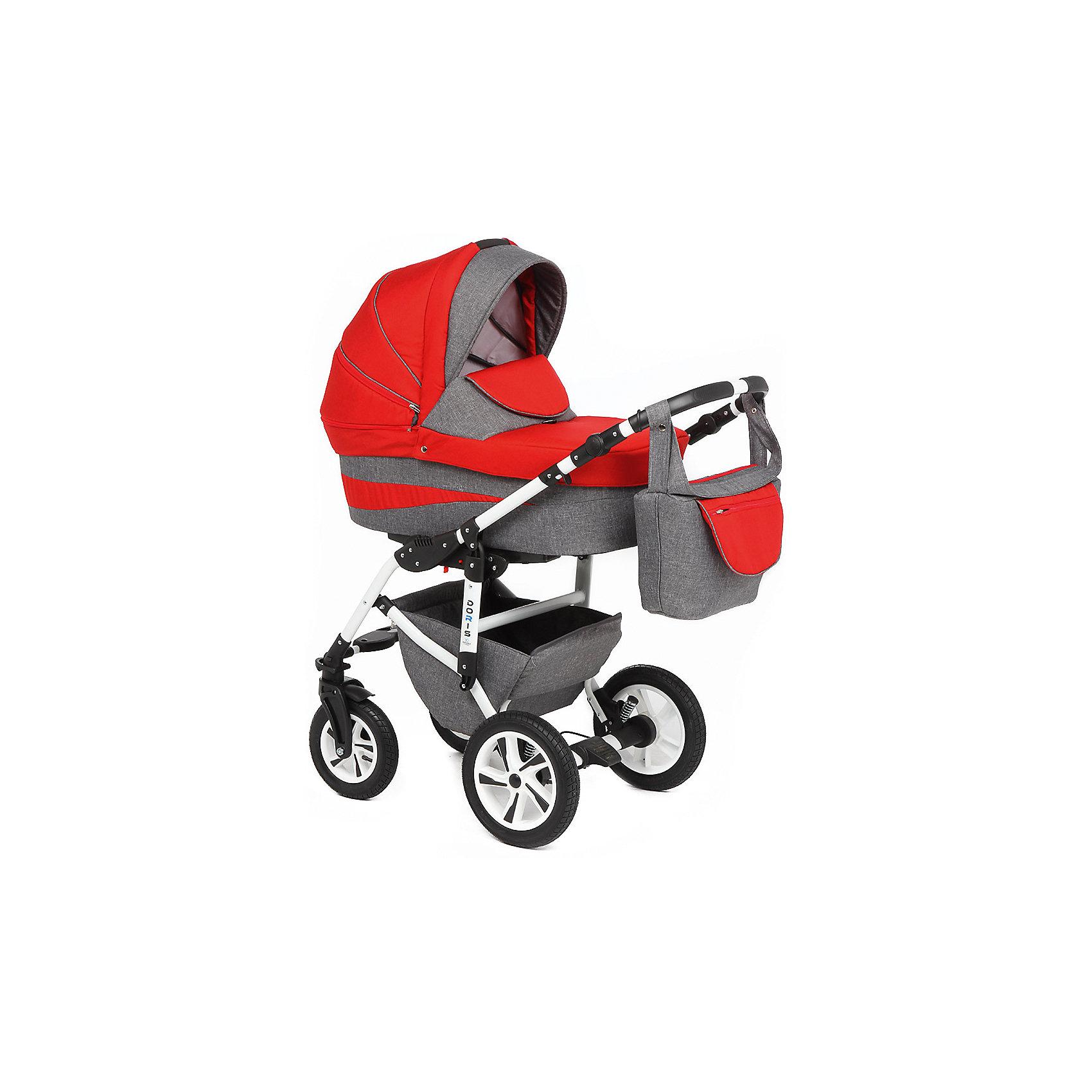 Коляска 2 в 1 DORIS LEN, Marimex, серый-красныйХарактеристики:<br><br>• Наименование: коляска 2 в 1<br>• Сезон: круглый год<br>• Пол: универсальный<br>• Материал: металл, пластик, резина, текстиль<br>• Цвет: серый, красный<br>• Тип колес: надувные<br>• Диаметр передних колес: 25 см<br>• Диаметр задних колес: 31 см<br>• Ширина шасси: 59 см<br>• Механизм складывания: книжка<br>• Амортизация: пружинный механизм<br>• Наличие ремней безопасности<br>• Размеры люльки (Ш*Д*В): 33*75*18 см<br>• Размеры прогулочного блока (Ш*Д*В): 33*91 см<br>• Вес: 15 кг 500 г<br>• Спинка у прогулочного блока регулируемая<br>• Ручка регулируется по высоте<br>• Наличие накидки на ножки<br>• Дополнительно: дождевик, антимоскитная сетка, сумка для детских принадлежностей<br><br>ВНИМАНИЕ!!! Вставки с рисунком на коляске могут отличаться от представленных на фото!<br><br>Коляска 2 в 1 DORIS LEN, Marimex, серый-красный – это коляска, отвечающая всем международным требованиям безопасности для детей возрастом до 3-х лет включительно. Комплектацияколяски предусматривает просторную люльку с твердым днищем и тканевой отделкой из натуральных материалов, обработанных специальным составом, препятствующим проникновению влаги и защитой от ветра. Коляска имеет легкий вес и компактные размеры, достаточно легко складывается и меняется на прогулочный блок. Передние поворотные колеса и пружинная амортизация обеспечивают плавный ход коляски даже по неровным дорогам. Коляска выполнена в ярком модном дизайне. <br><br>Коляску 2 в 1 DORIS LEN, Marimex, серый-красный можно купить в нашем интернет-магазине.<br><br>Ширина мм: 1100<br>Глубина мм: 620<br>Высота мм: 400<br>Вес г: 24000<br>Возраст от месяцев: 0<br>Возраст до месяцев: 36<br>Пол: Унисекс<br>Возраст: Детский<br>SKU: 5120621