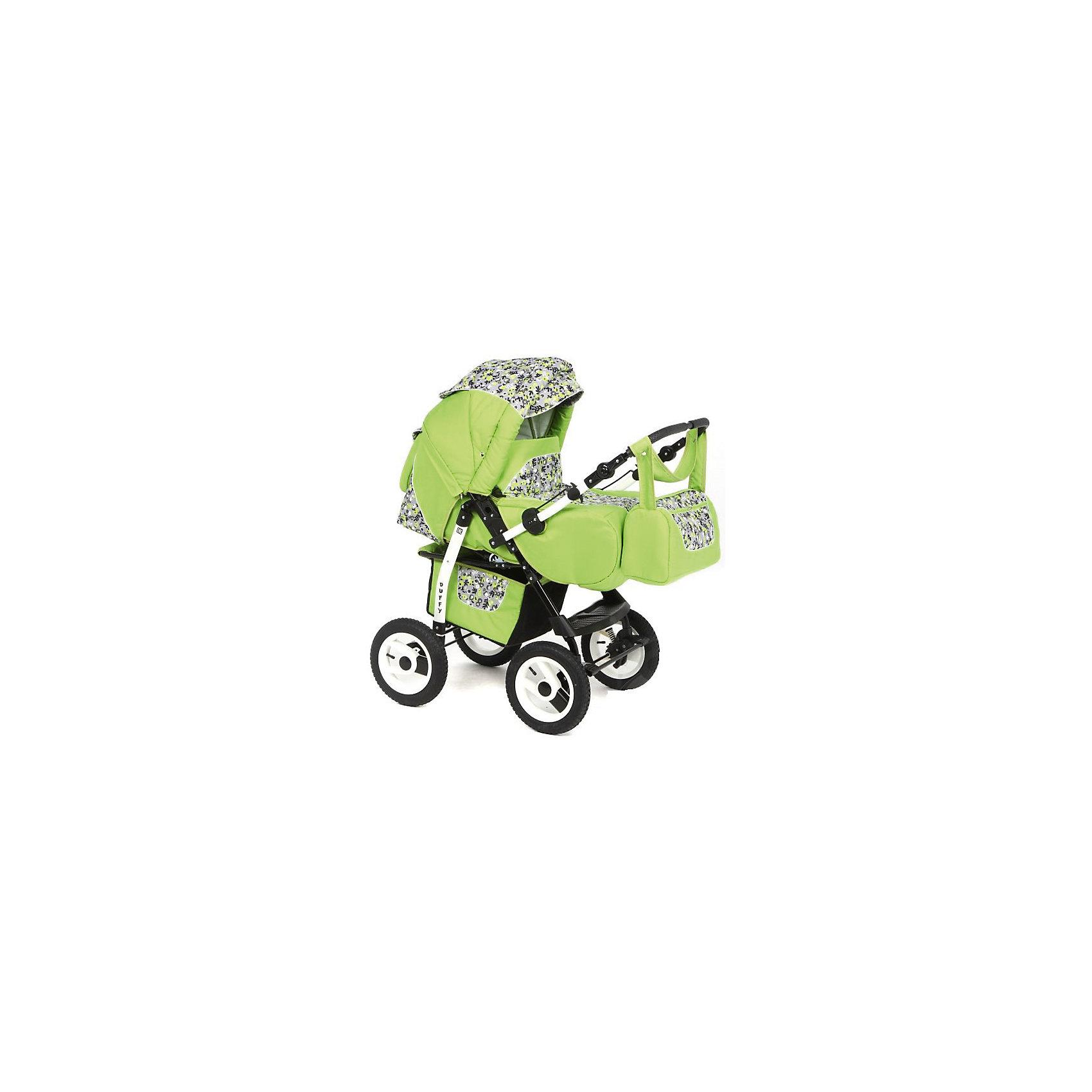 Коляска-трансформер DUFFY, Marimex, зеленый-принтХарактеристики:<br><br>• Наименование: коляска-трансформер<br>• Сезон: круглый год<br>• Пол: универсальный<br>• Материал: металл, пластик, резина, текстиль<br>• Цвет: зеленый, серый, черный<br>• Тип колес: имитация<br>• Диаметр передних колес: 30 см<br>• Диаметр задних колес: 30 см<br>• Ширина шасси: 60 см<br>• Механизм складывания: книжка<br>• Амортизация: пружинный механизм<br>• Наличие ремней безопасности<br>• Размеры люльки (Ш*Д*В): 38*83*29 см<br>• Размеры прогулочного блока (Ш*Д): 31*24 см<br>• Вес: 15 кг<br>• Спинка у прогулочного блока регулируемая<br>• Ручка регулируется по высоте<br>• Дополнительно: сумка для детских принадлежностей, дождевик<br><br>ВНИМАНИЕ!!! Вставки с рисунком на коляске могут отличаться от представленных на фото!<br><br>Коляска-трансформер DUFFY, Marimex, зеленый принт – это коляска, отвечающая всем международным требованиям безопасности для детей возрастом до 3-х лет включительно. Комплектацияколяски предусматривает просторную переносную люльку и прогулочный блок с широкой подножкой и перекладиной. Коляска имеет легкий вес и компактные размеры, достаточно легко складывается и меняется на прогулочный блок. Большие по диаметру колеса обеспечивают высокую проходимость, а подвеска на пружинах – мягкий ход по неровным дорогам. Коляска выполнена из сочетания ярких и стильных цветовых оттенков. <br><br>Коляску-трансформер DUFFY, Marimex, зеленый принт можно купить в нашем интернет-магазине.<br><br>Ширина мм: 1100<br>Глубина мм: 620<br>Высота мм: 400<br>Вес г: 18000<br>Возраст от месяцев: 0<br>Возраст до месяцев: 36<br>Пол: Унисекс<br>Возраст: Детский<br>SKU: 5120626