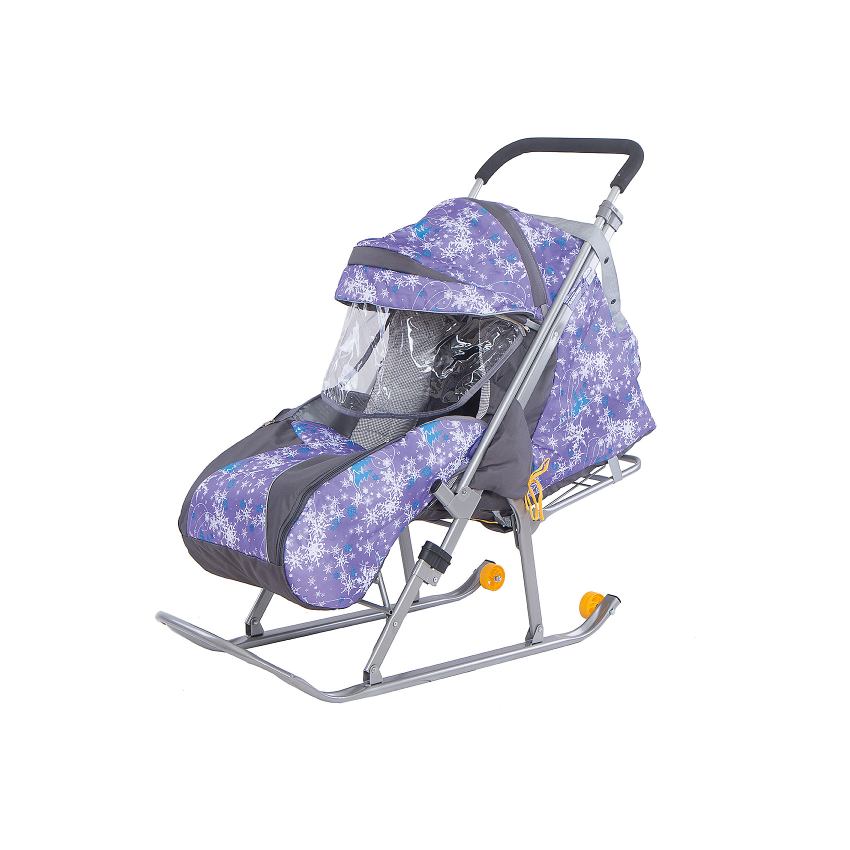 GALAXY Санки-коляска Галактика. Скандинавия, Galaxy, елки на фиолетовом санки коляски galaxy снежинка универсал