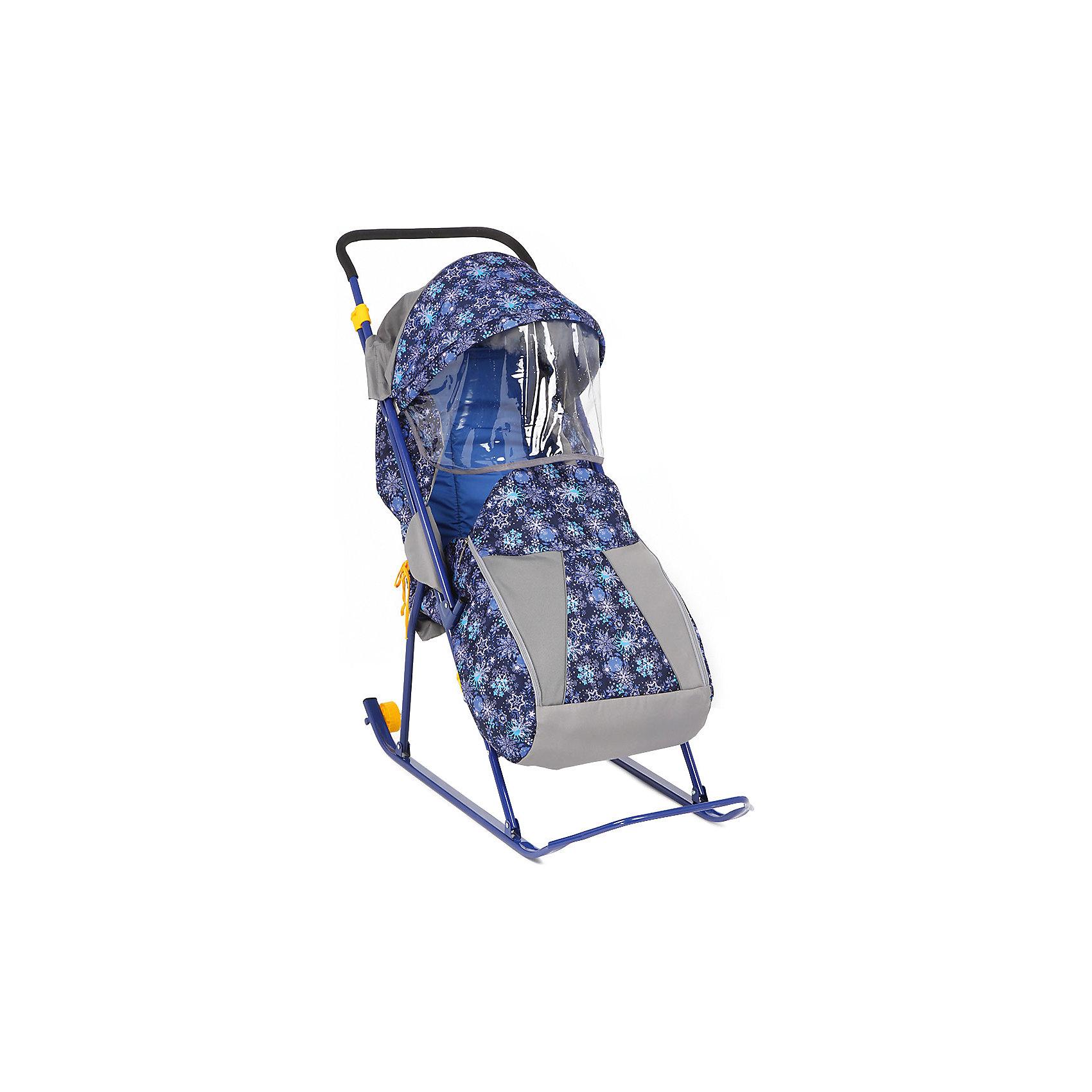 Санки-коляска Снежинка премиум, Galaxy, снежинки/синийХарактеристики:<br><br>• Наименование: санки-коляска<br>• Сезон: зима<br>• Пол: универсальный<br>• Материал: металл, пластик, текстиль<br>• Цвет: синий, голубой, белый<br>• Наличие 2-х маленьких колесиков<br>• Наличие перекидной ручки<br>• Наличие ремней безопасности<br>• Максимально допустимый вес: 80 кг<br>• Размеры (Д*Ш*В): 102*41*102 см<br>• Вес: 6 кг 300 г<br>• Спинка регулируемая<br>• Чехол для ножек застегивается на молнию<br>• Наличие складного козырька с тентом<br>• Каркас усиленный <br><br>Санки-коляска Снежинка премиум, Galaxy, снежинки/синий предназначены для зимних прогулок с ребенком по разным видам дорожной поверхности. Санки оснащены полозьями и дополнительно маленькими колесиками, которые позволяют без труда преодолеть незаснеженные участки дороги. Чехлы, выполненые из непродуваемого и непромокаемого материала, обеспечат клмфортные прогулки даже в самую непогоду, а регулируемая по высоте спинка позволит не прерывать прогулку, даже если малыш заснул. Санки-коляска оснащены ремнями безопасности, ручка перекидывается, что делает их удобными не только для ребенка, но и для мамы. <br><br>Санки-коляска Снежинка премиум, Galaxy, снежинки/синий можно купить в нашем интернет-магазине.<br><br>Ширина мм: 1110<br>Глубина мм: 416<br>Высота мм: 225<br>Вес г: 6300<br>Возраст от месяцев: 6<br>Возраст до месяцев: 36<br>Пол: Унисекс<br>Возраст: Детский<br>SKU: 5120638