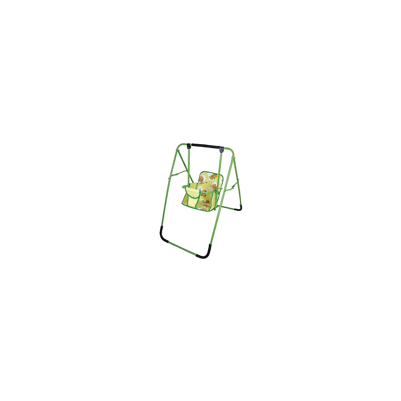 Качели универсальные Чарли ФеяХарактеристики:<br><br>• Наименование: качели напольные<br>• Сезон: круглый год<br>• Пол: универсальный<br>• Материал: металл, текстиль, пластик<br>• Цвет: зеленый, желтый<br>• Наличие мягкого съемного сиденья<br>• Наличие ремней безопасности<br>• Устойчивый каркас с антискользящими накладками<br>• Механизм складывания: книжка<br>• Максимально допустимый вес: до 15 кг<br>• Размеры (Д*Ш*В): 69*110*102 см <br>• Вес: 6 кг<br><br>Качели универсальные Чарли Фея ппредназначены для детей младшего дошкольного возраста. Изготовлены из устойчивой конструкции, предотвращающей опрокидывания и пошатываения во время качания, делают их безопасными даже для самых маленьких детей. Широкое сиденье выполнено в форме стульчика со съемным чехлом, что делает их удобными в уходе. Конструкция имеет складной механизм и легкий вес, что позволяет их использовать не только дома, но и брать с собой на дачу или на природу. <br><br>Качели универсальные Чарли Фея можно купить в нашем интернет-магазине.<br><br>Ширина мм: 500<br>Глубина мм: 200<br>Высота мм: 100<br>Вес г: 2000<br>Возраст от месяцев: 36<br>Возраст до месяцев: 84<br>Пол: Унисекс<br>Возраст: Детский<br>SKU: 5120642