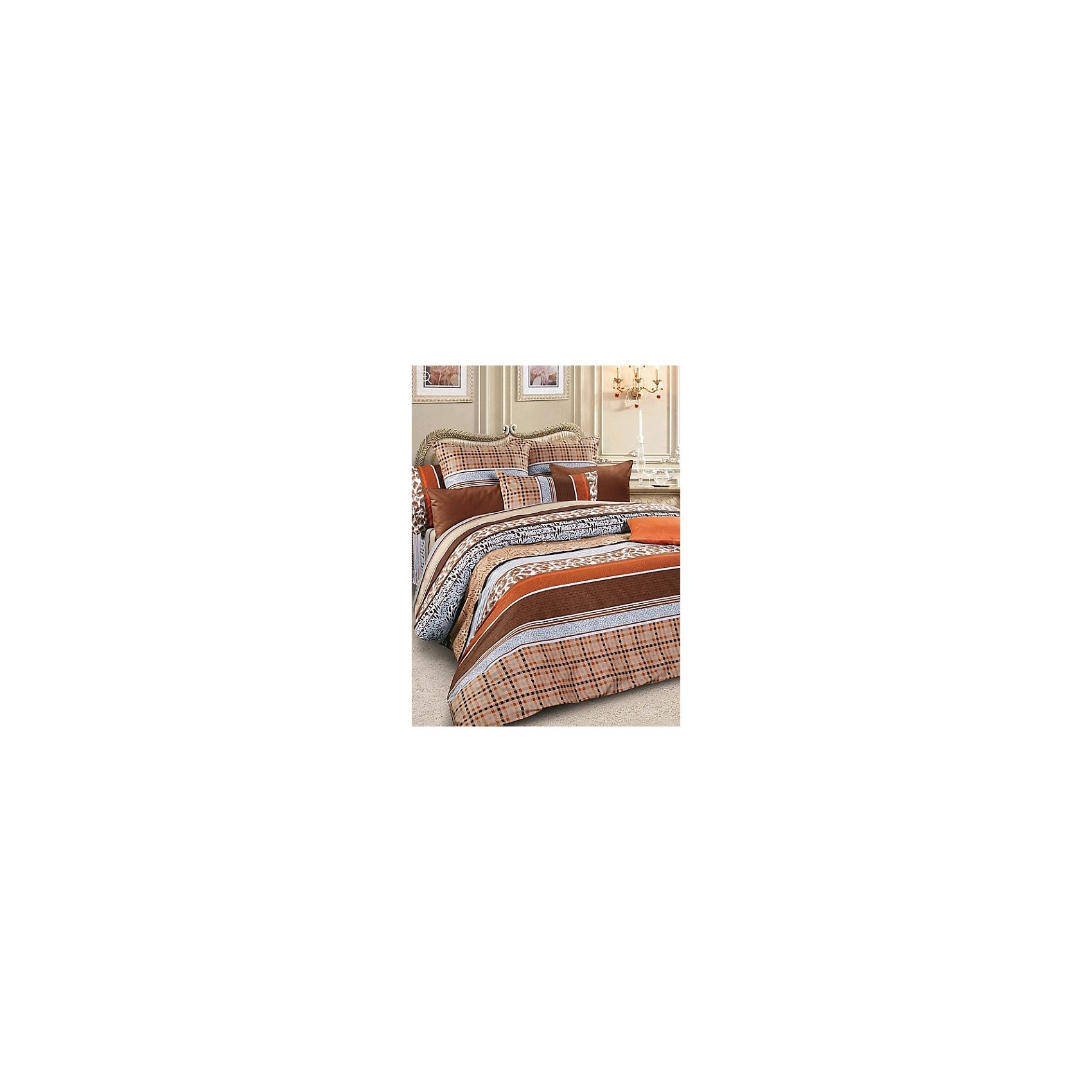 Letto Постельное белье Евро SM56 сатин, (нав.70х70), Letto комплект белья letto дуэт семейный наволочки 70х70 цвет голубой b33 7